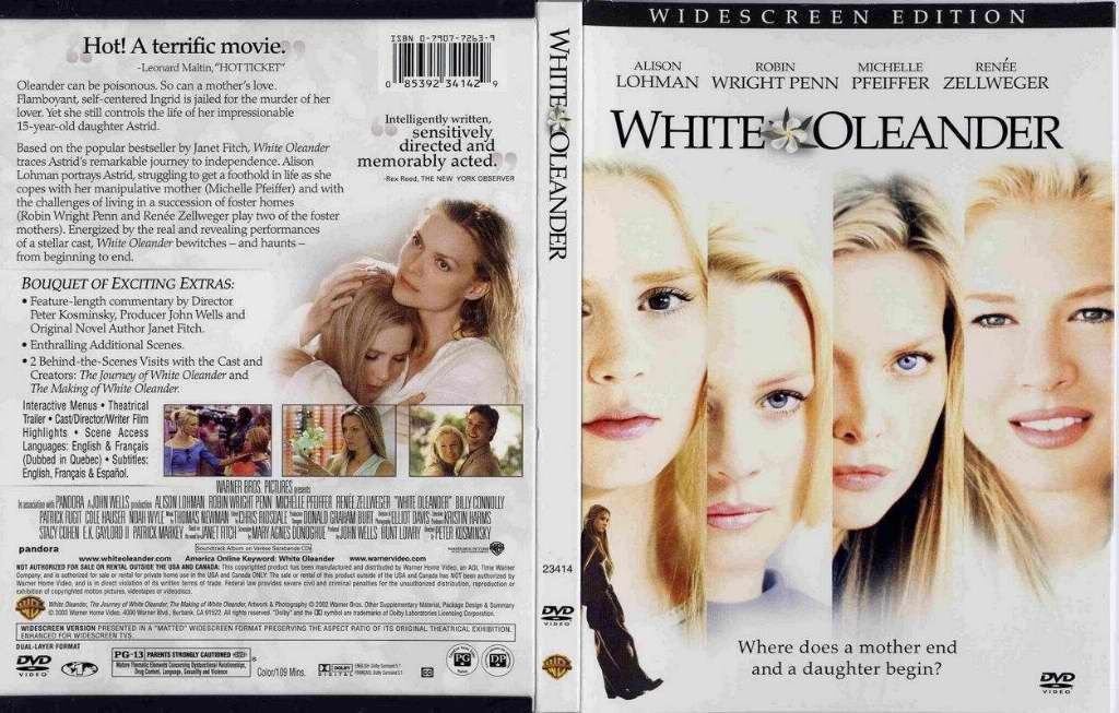 white oleander book vs movie White oleander a novel (book) : fitch, janet the movie brought me to the book, and i was not disappointed, even though (in my mind) i was going backwards.