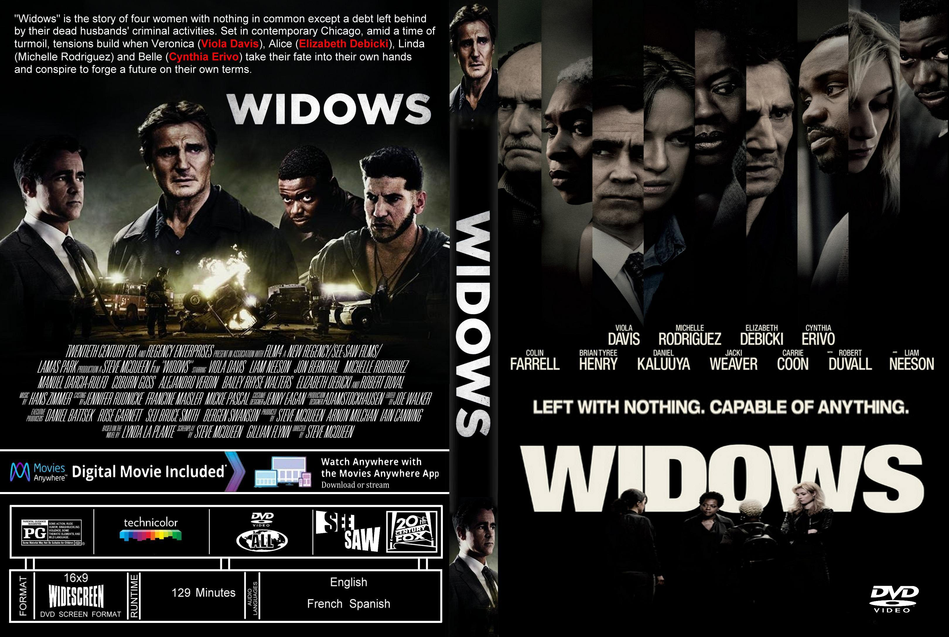 Widows (2018) : Front   DVD Covers   Cover Century   Over