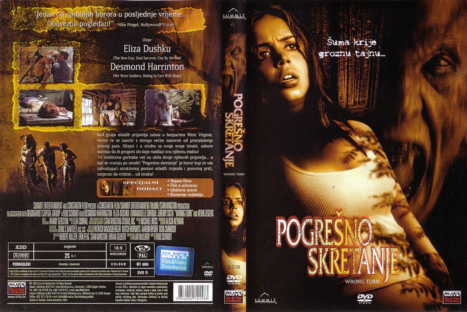 Wrong Turn Dvd Hr Dvd Covers Cover Century Over 500 000 Album Art Covers For Free