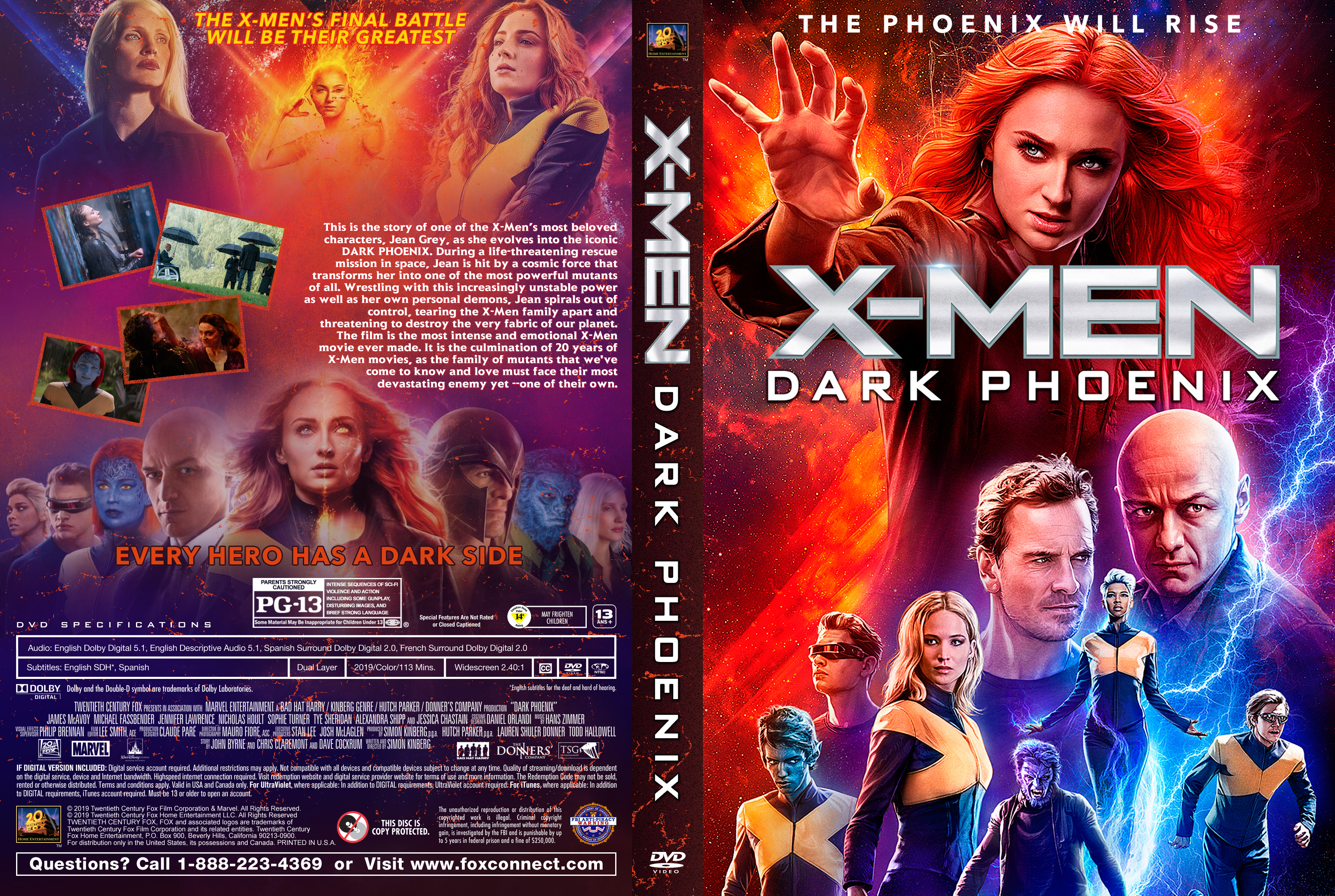 X Men Dark Phoenix 2019 Front Dvd Covers Cover Century Over 500 000 Album Art Covers For Free