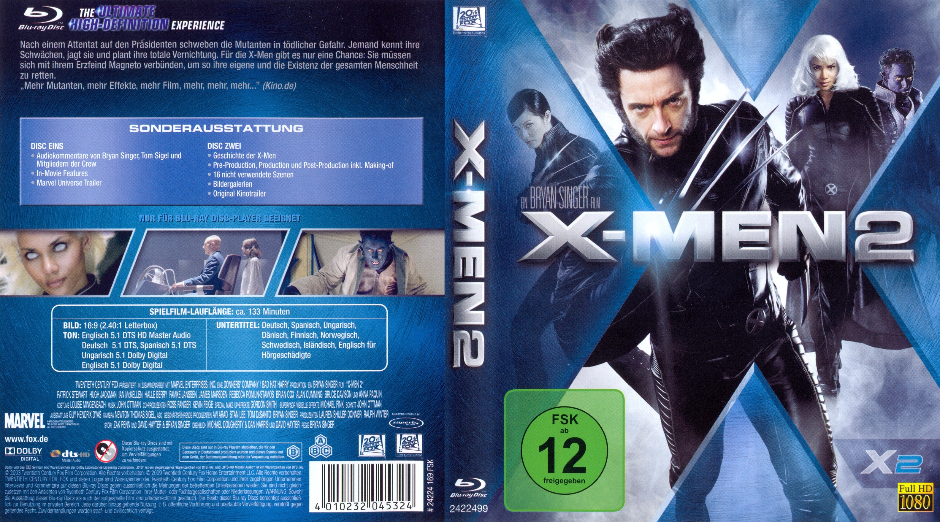 X-men 2 (2003) hindi dubbed watch full movie online and hd.
