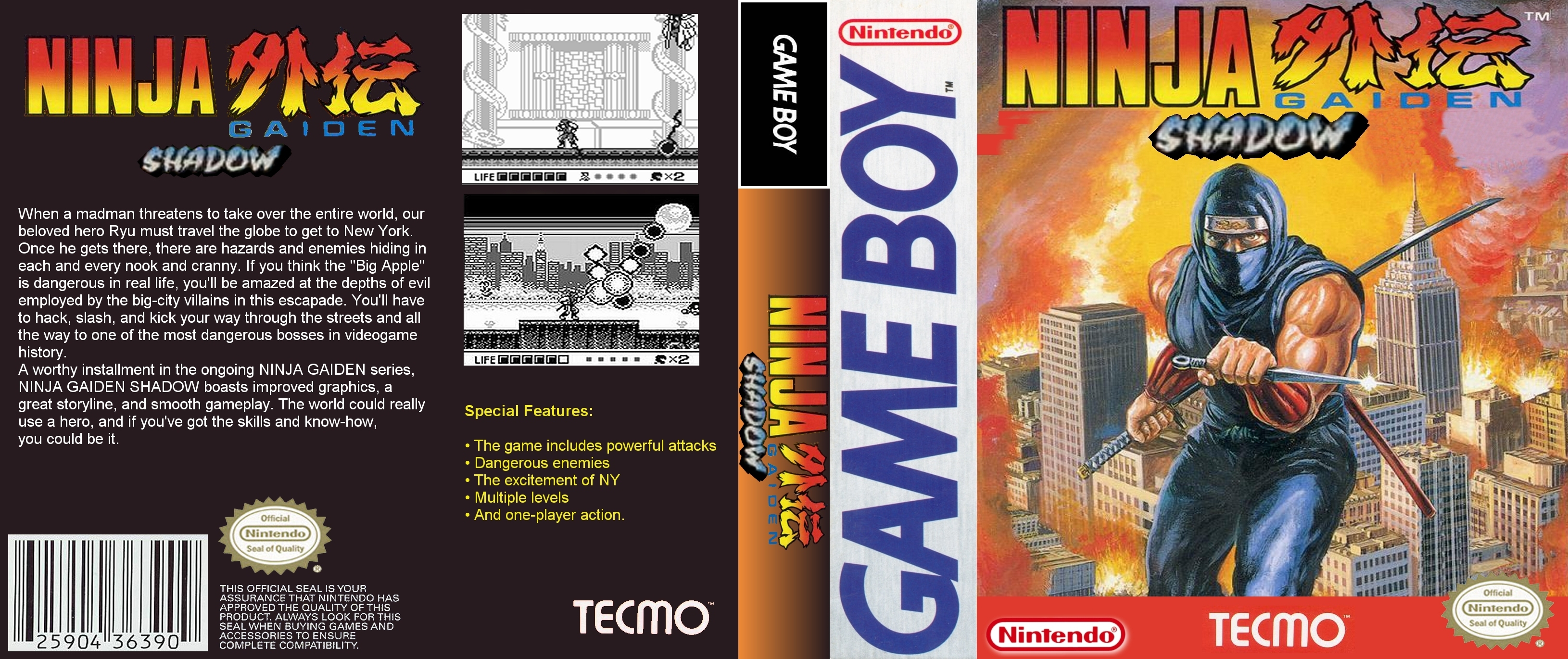 Ninja Gaiden Shadow Gameboy Covers Cover Century Over 500 000 Album Art Covers For Free