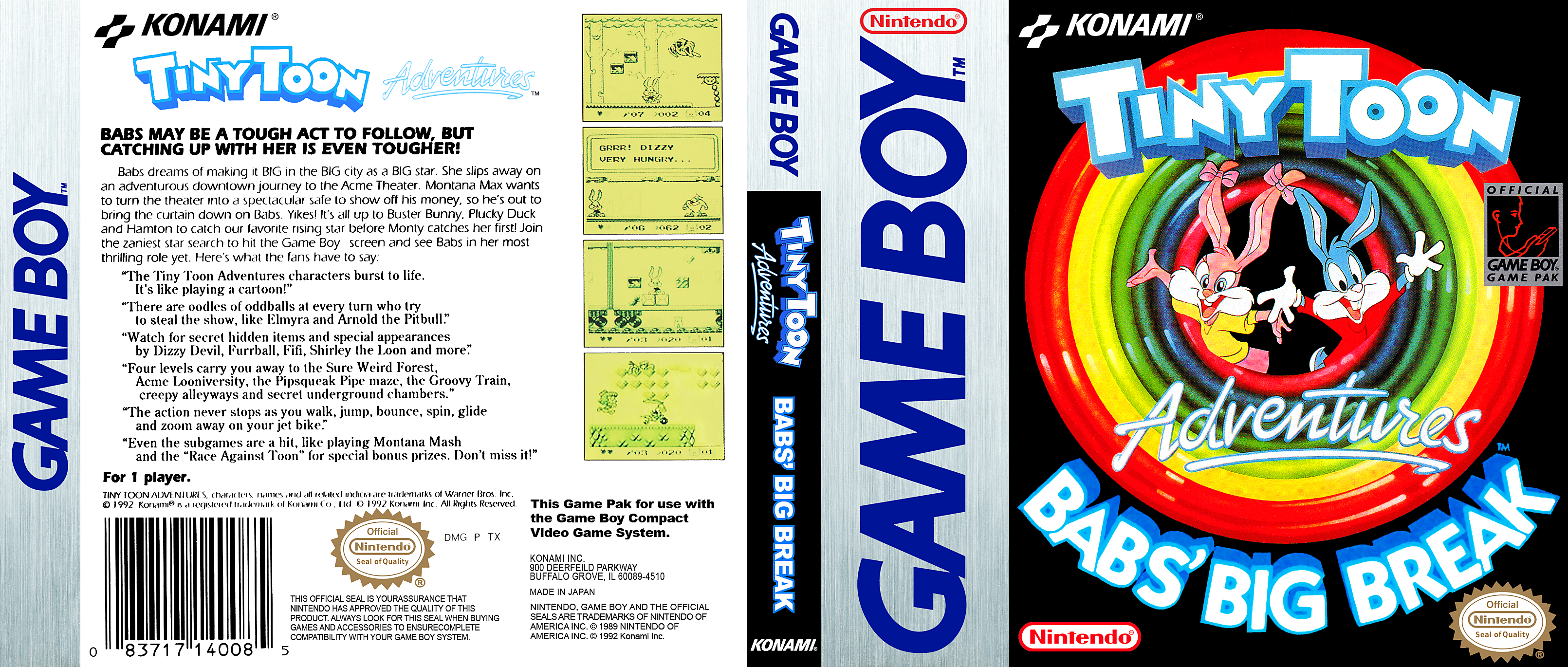 Tiny Toon Adventures Babs Big Break Gameboy Covers Cover Century Over 500 000 Album Art Covers For Free