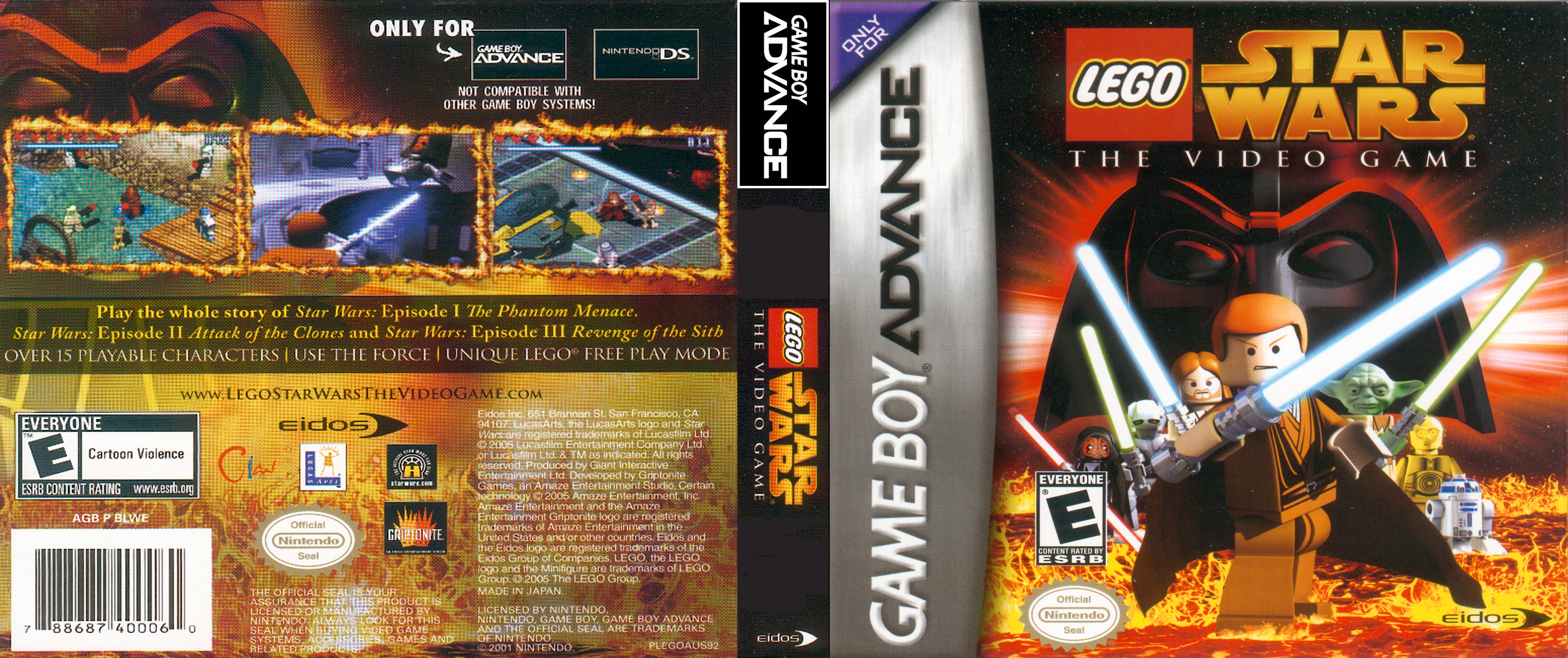 Lego Star Wars Gameboy Advance Covers Cover Century Over 500 000 Album Art Covers For Free