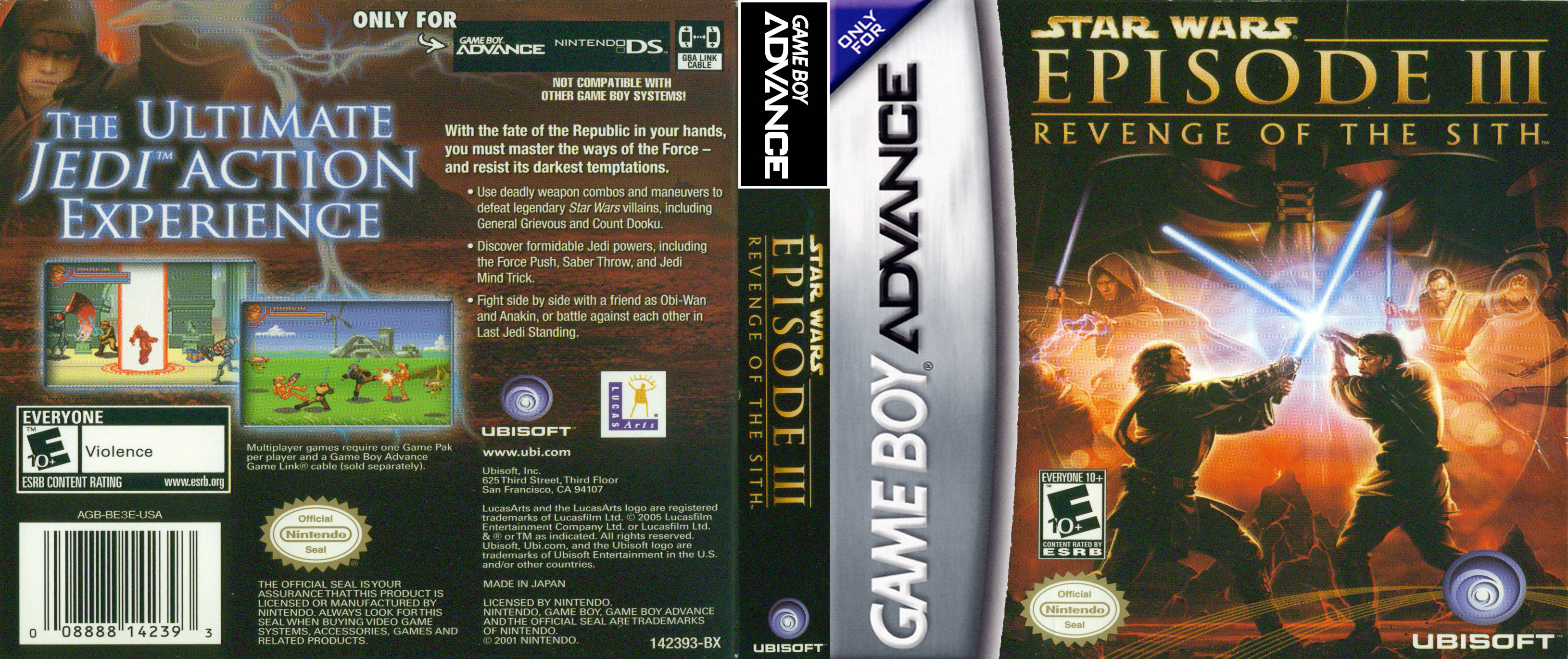 Star Wars Episode 3 Gameboy Advance Covers Cover Century Over 500 000 Album Art Covers For Free