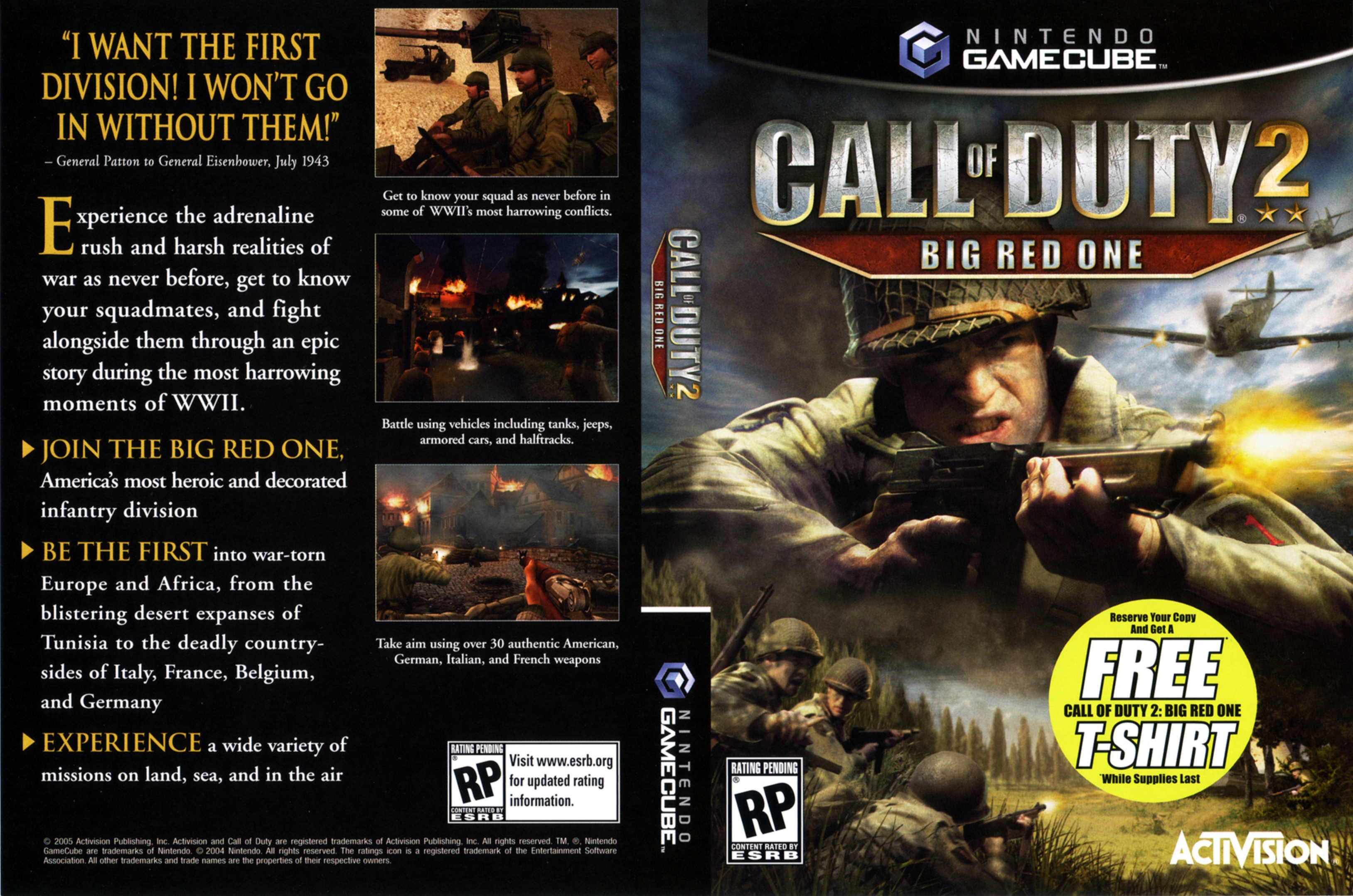 Call of Duty 2 Big Red One   Gamecube Covers   Cover Century   Over