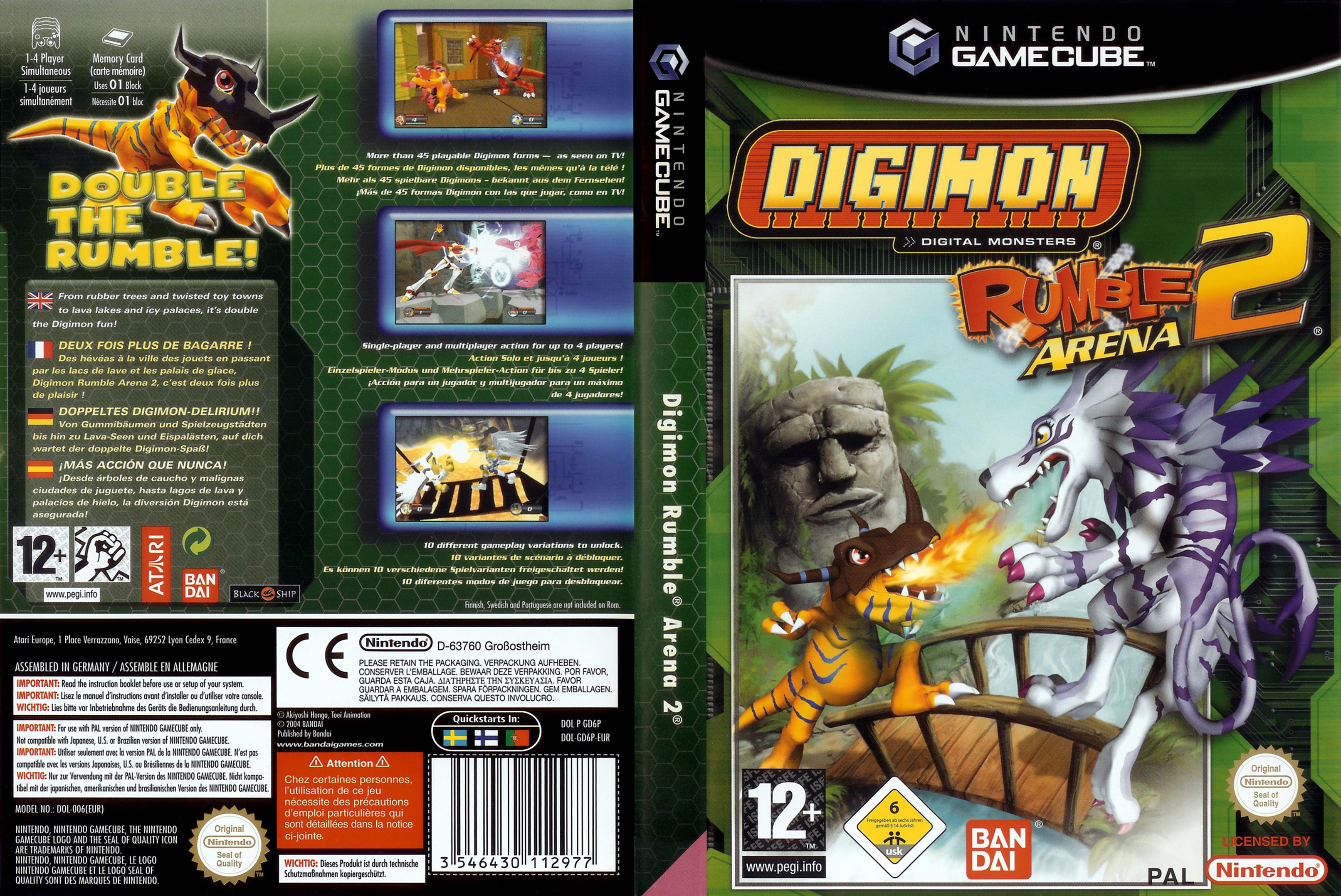 Digimon Rumble Arena 2 | Gamecube Covers | Cover Century