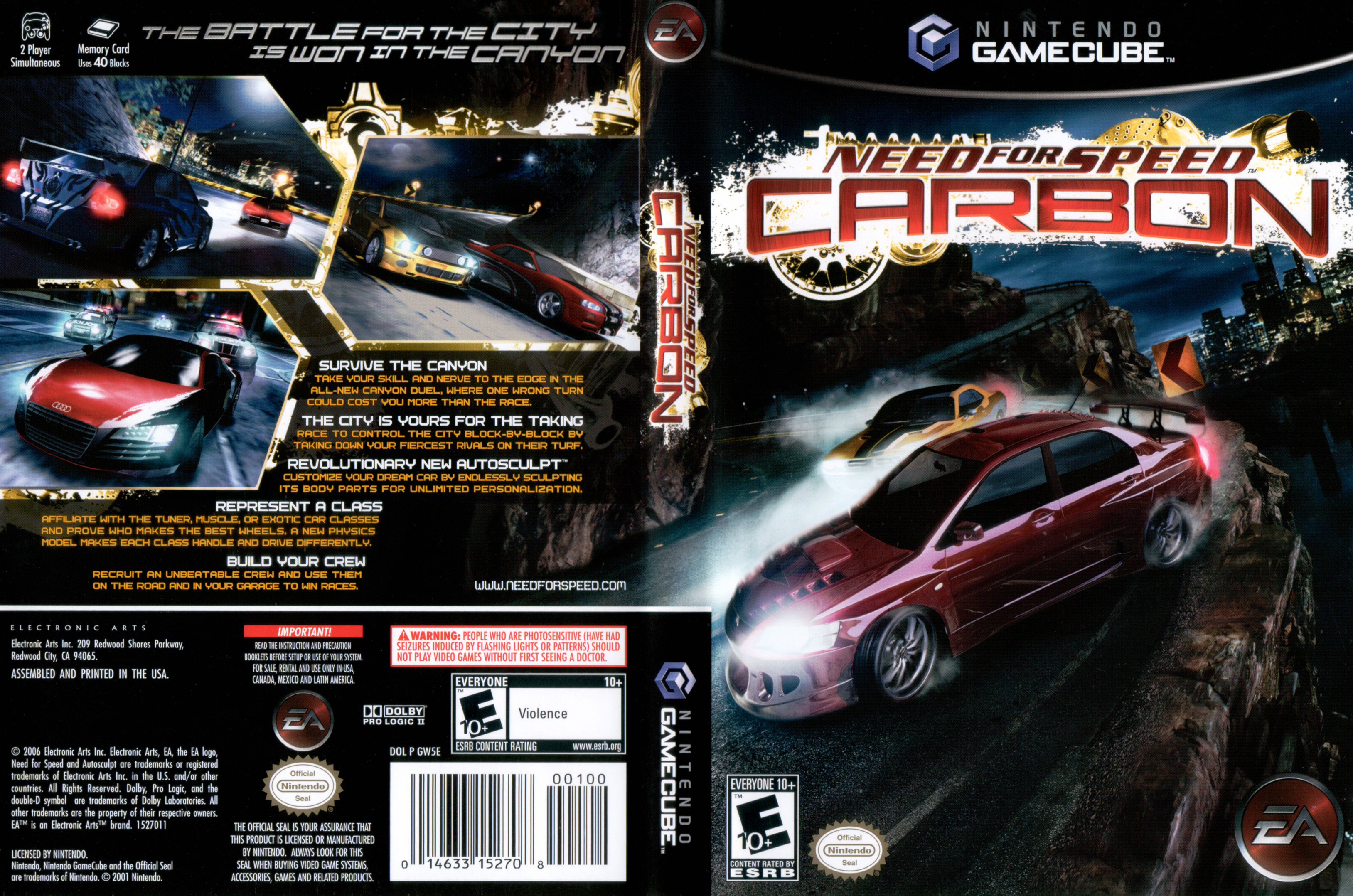 Need For Speed Carbon Gamecube Covers Cover Century Over