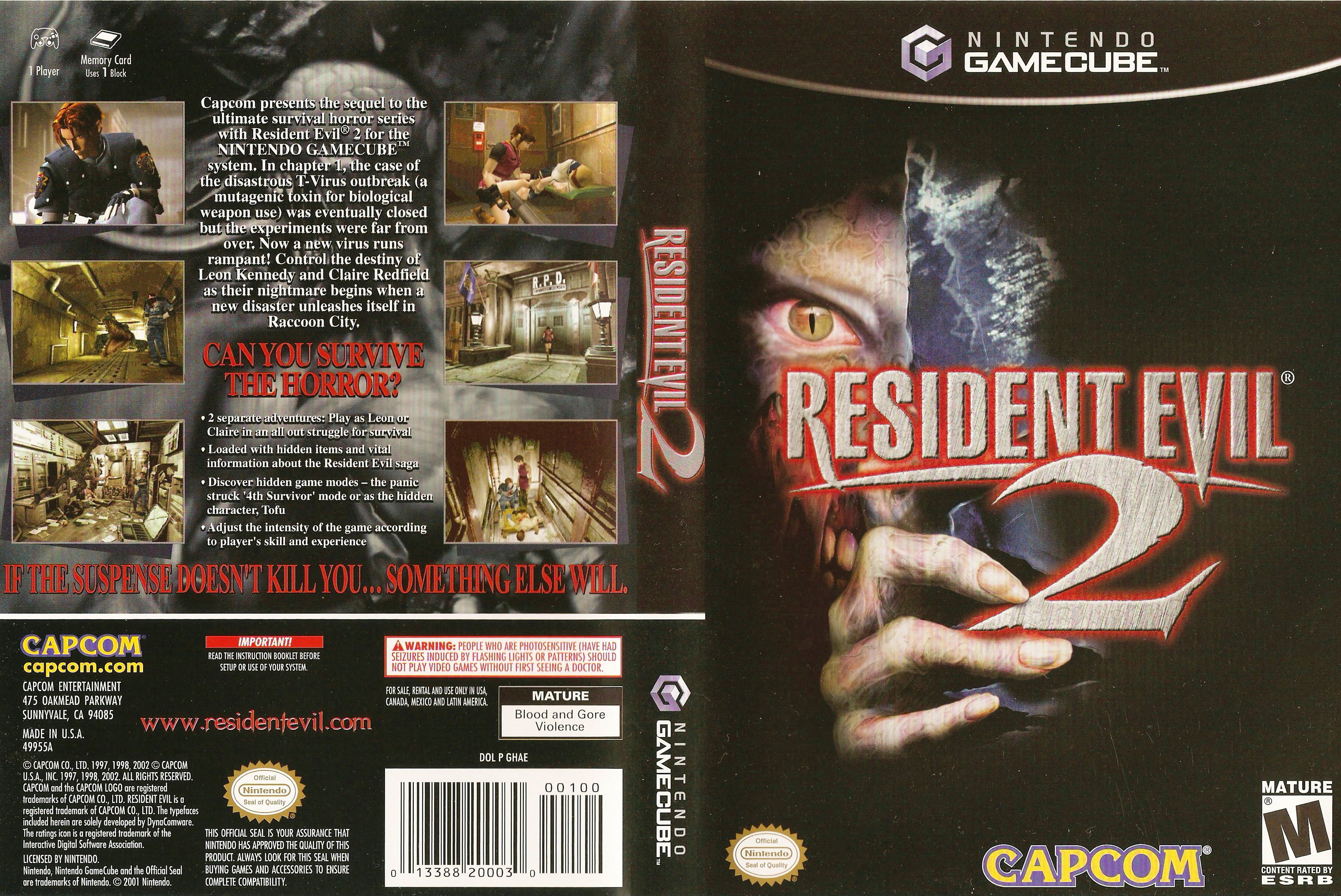 Resident Evil 2 Gamecube Covers Cover Century Over 500 000