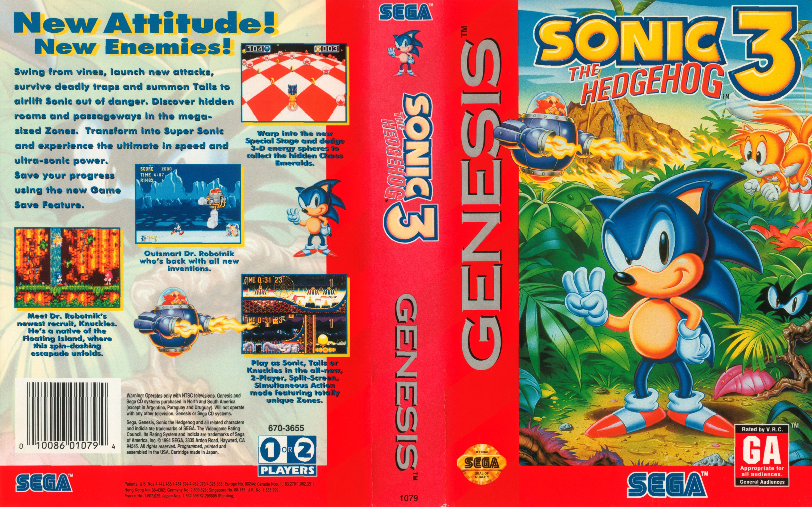 Sonic The Hedgehog 3 Genesis Covers Cover Century Over 500 000 Album Art Covers For Free