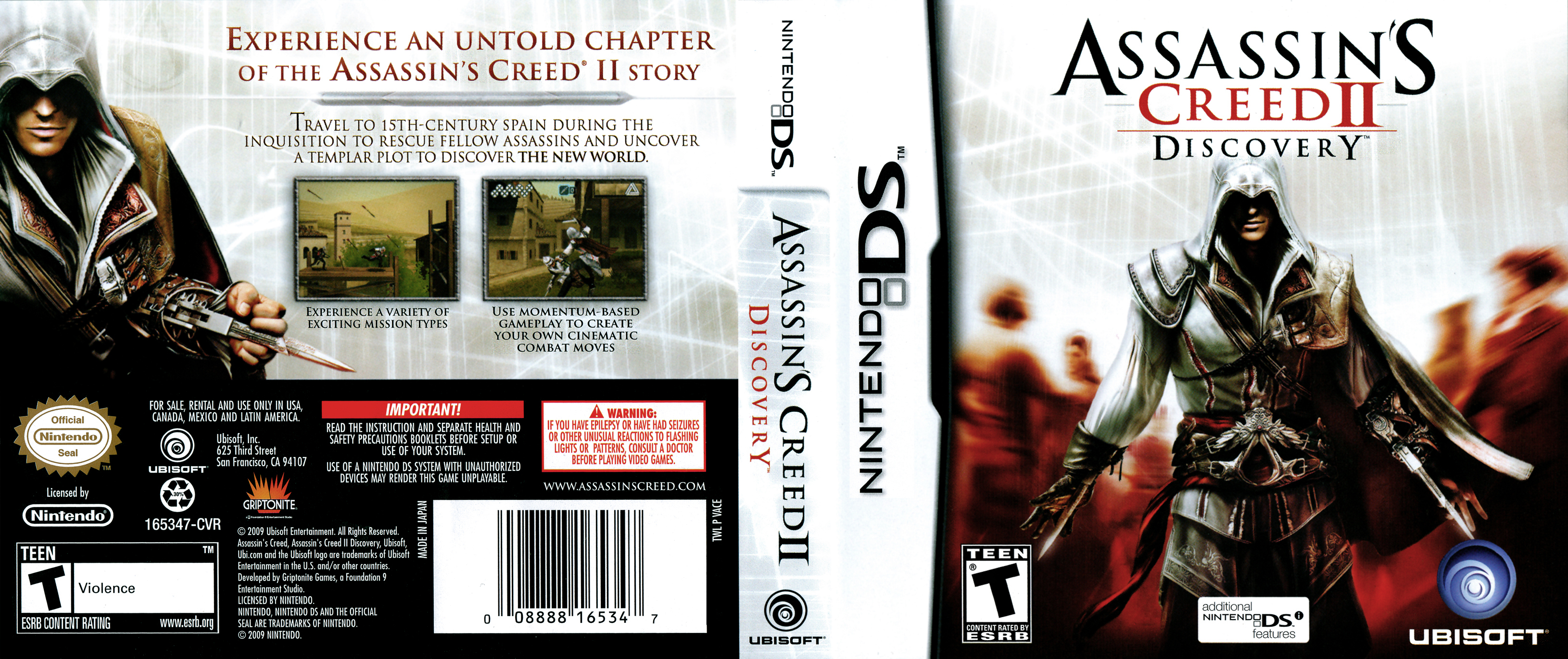 Assassins Creed Ii Discovery Nintendo Ds Covers Cover Century