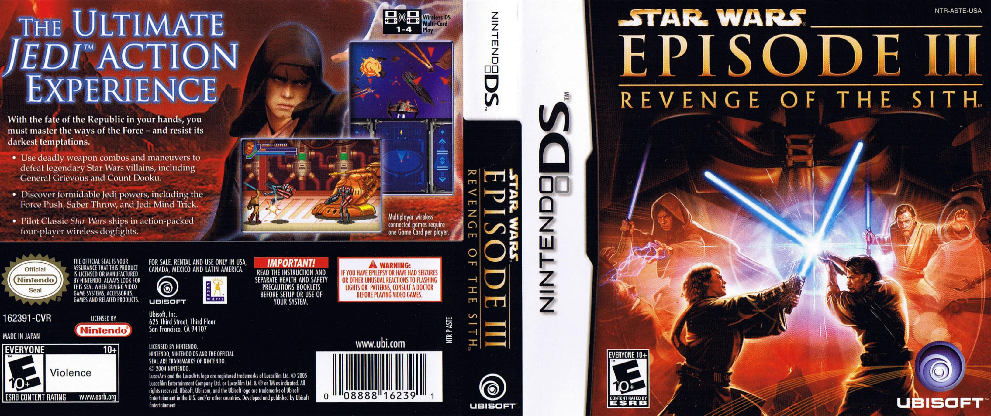 Star Wars Episode Iii Revenge Of The Sith Nintendo Ds Covers Cover Century Over 500 000 Album Art Covers For Free