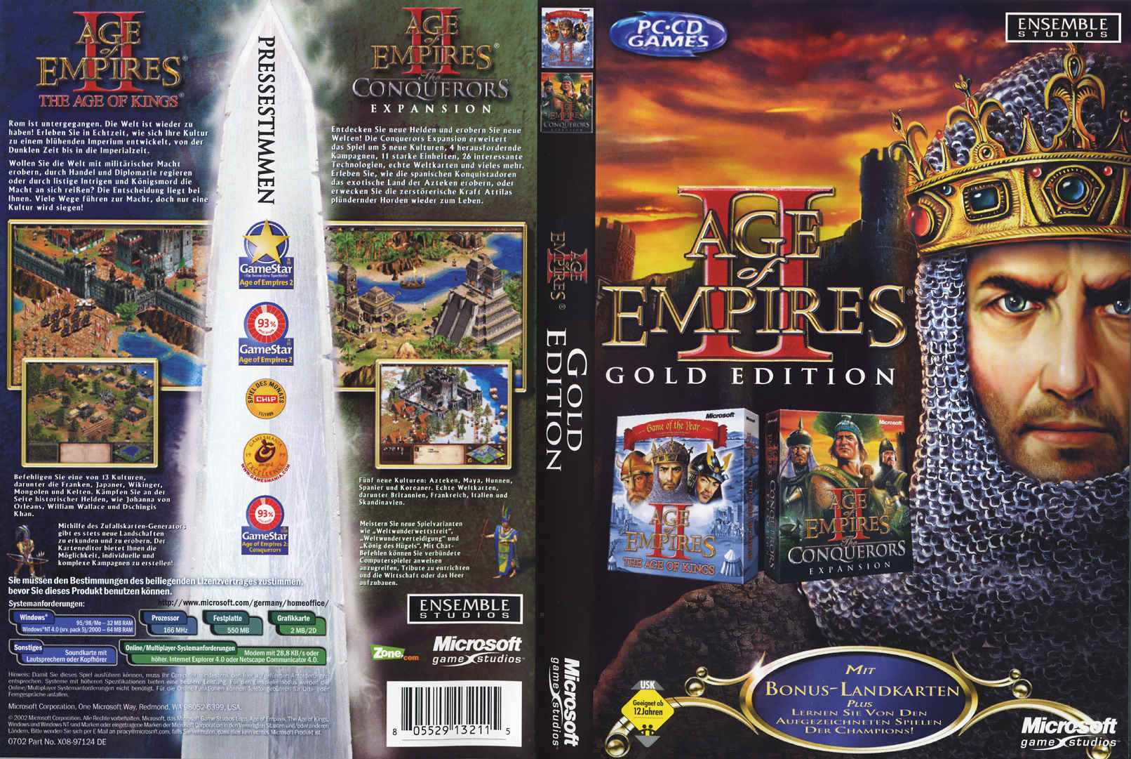 age of empires 2 gold edition d | PC Covers | Cover Century