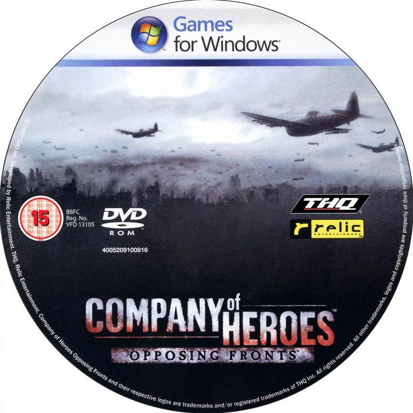 Company Of Heroes Opposing Fronts Dvd Pal Cd Pc Covers Cover Century Over 500 000 Album Art Covers For Free