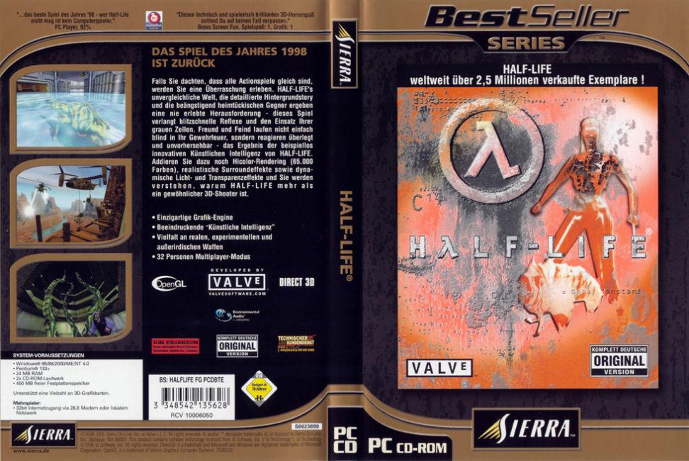 Half Life BestSeller Cover | PC Covers | Cover Century
