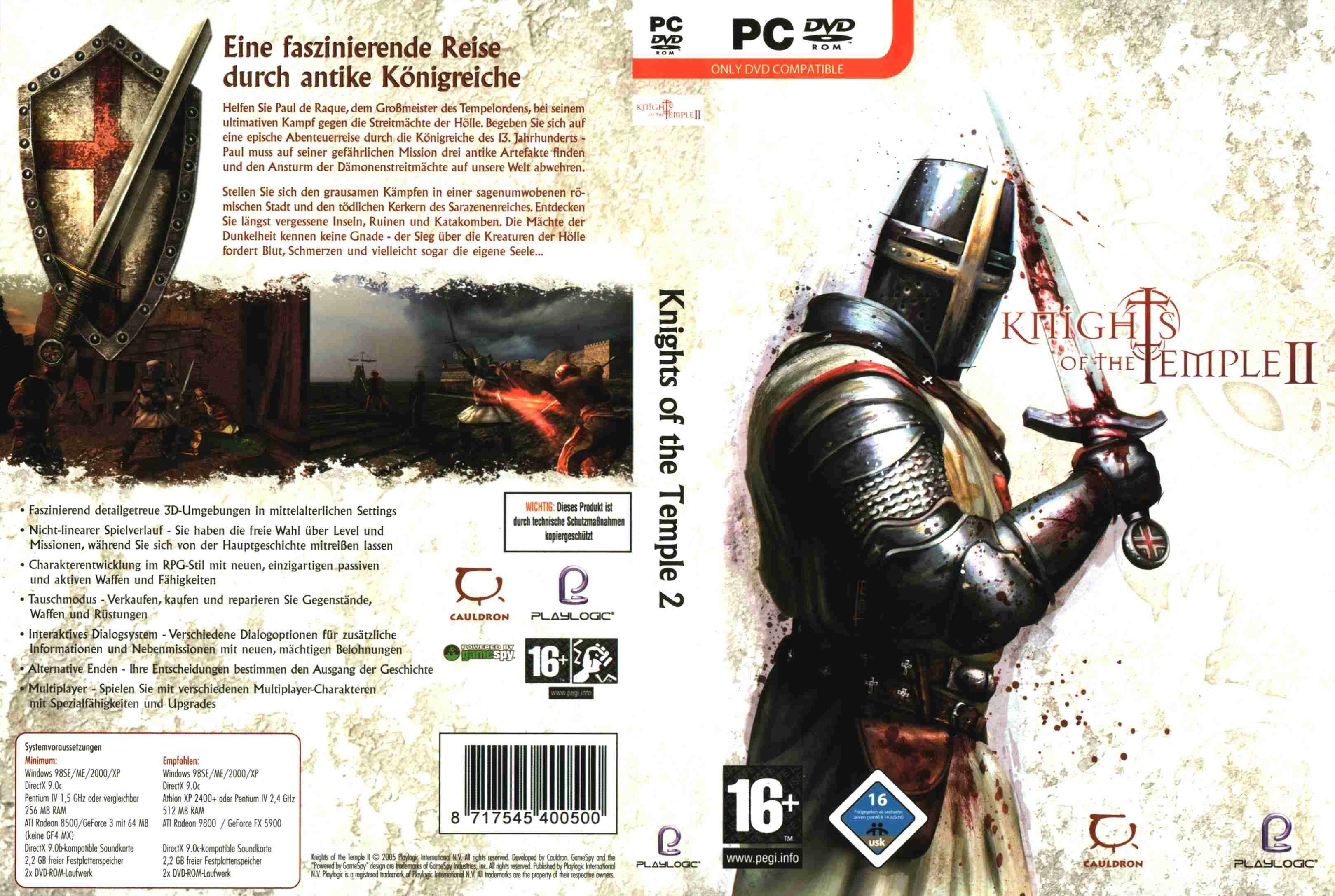 knights of the temple 2 pc games dvd | PC Covers | Cover