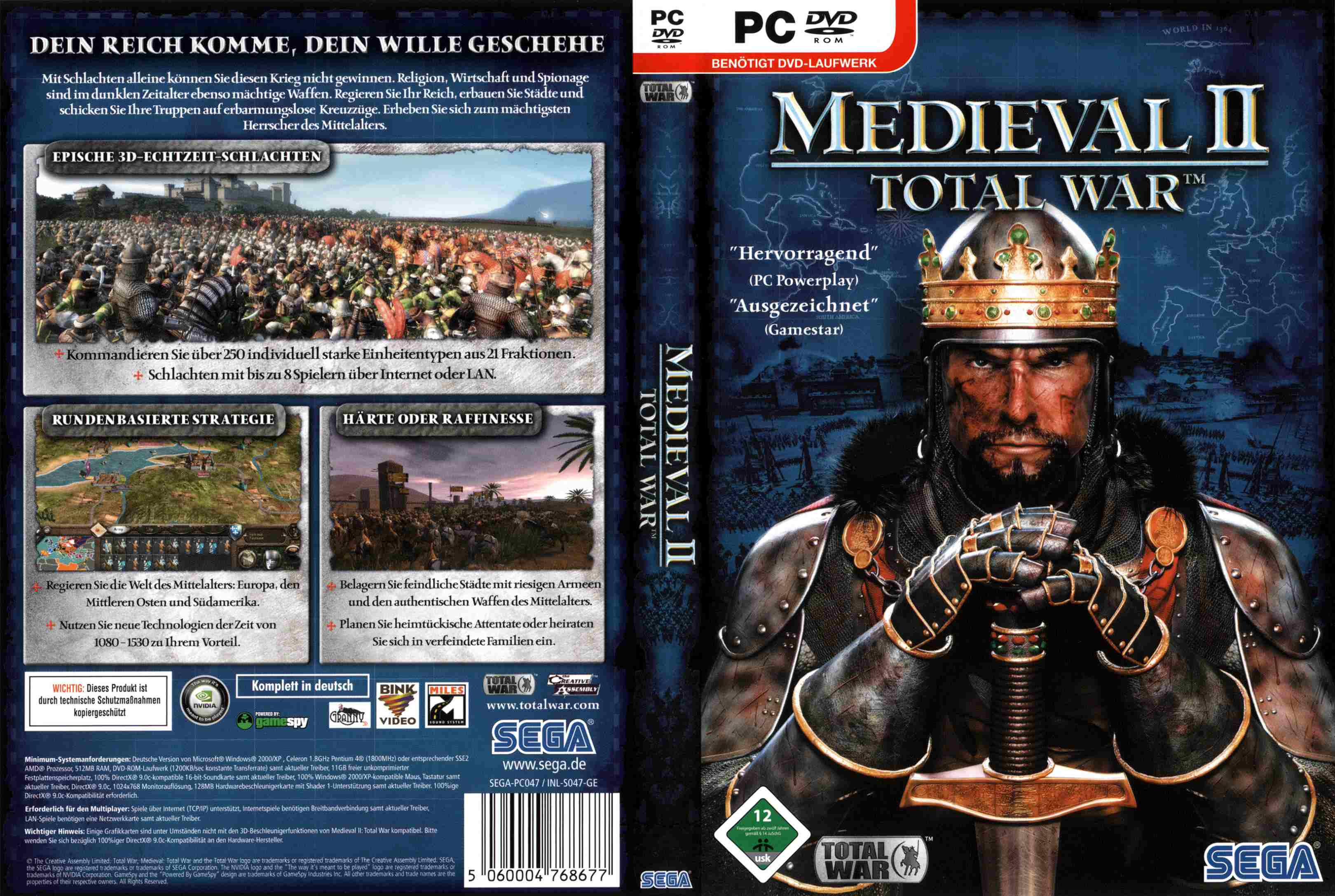 Medieval 2 Total War Pc Dvd Cover | PC Covers | Cover