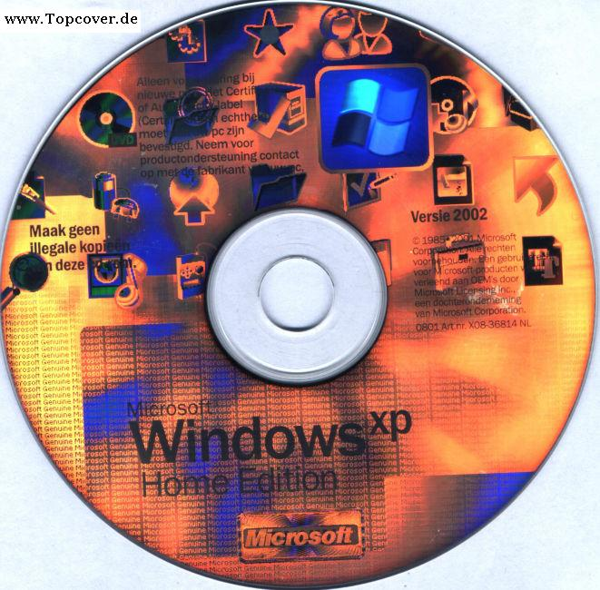 Microsoft Windows XP Home Edition CD | PC Covers | Cover