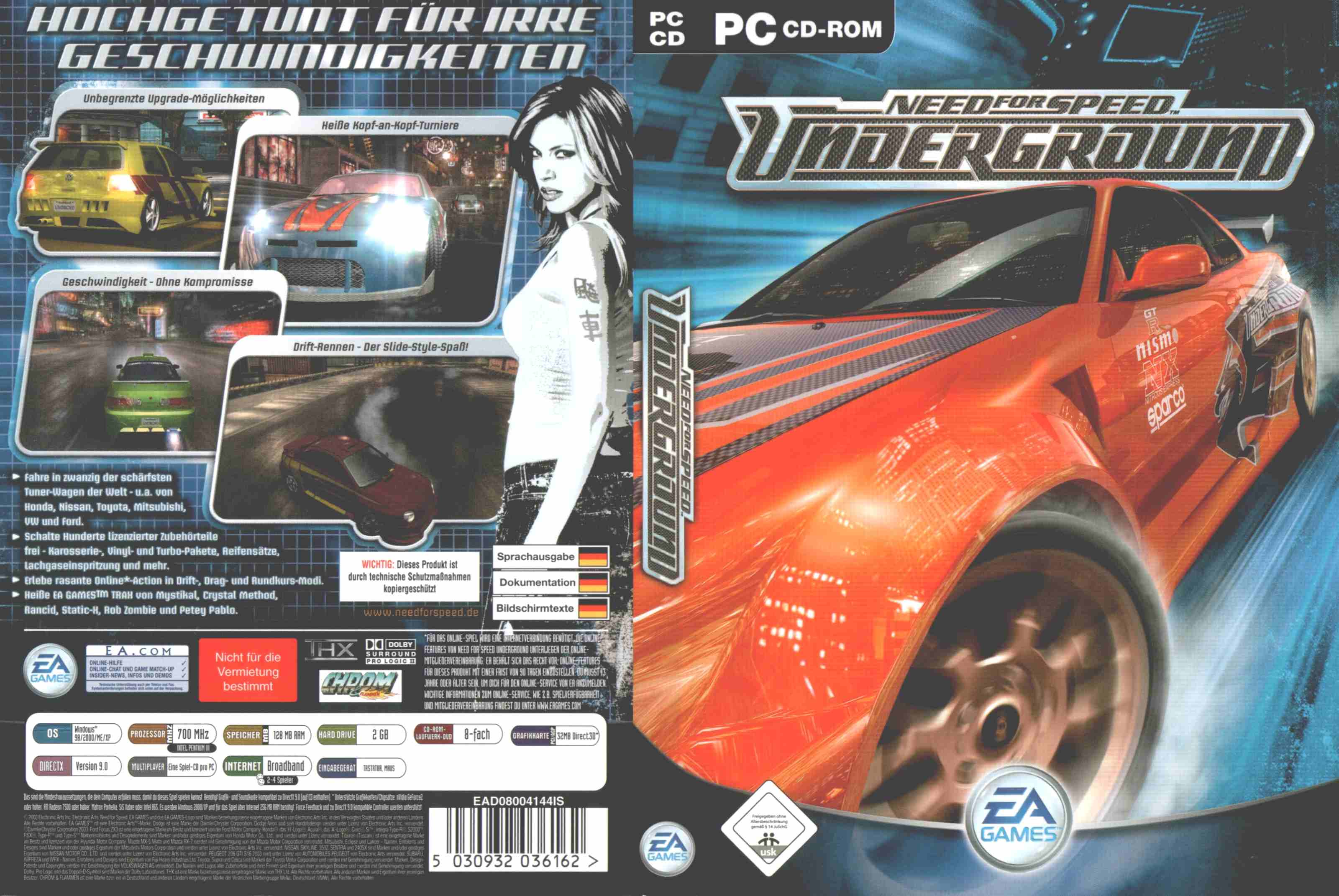 Need For Speed Underground D Pc Covers Cover Century Over