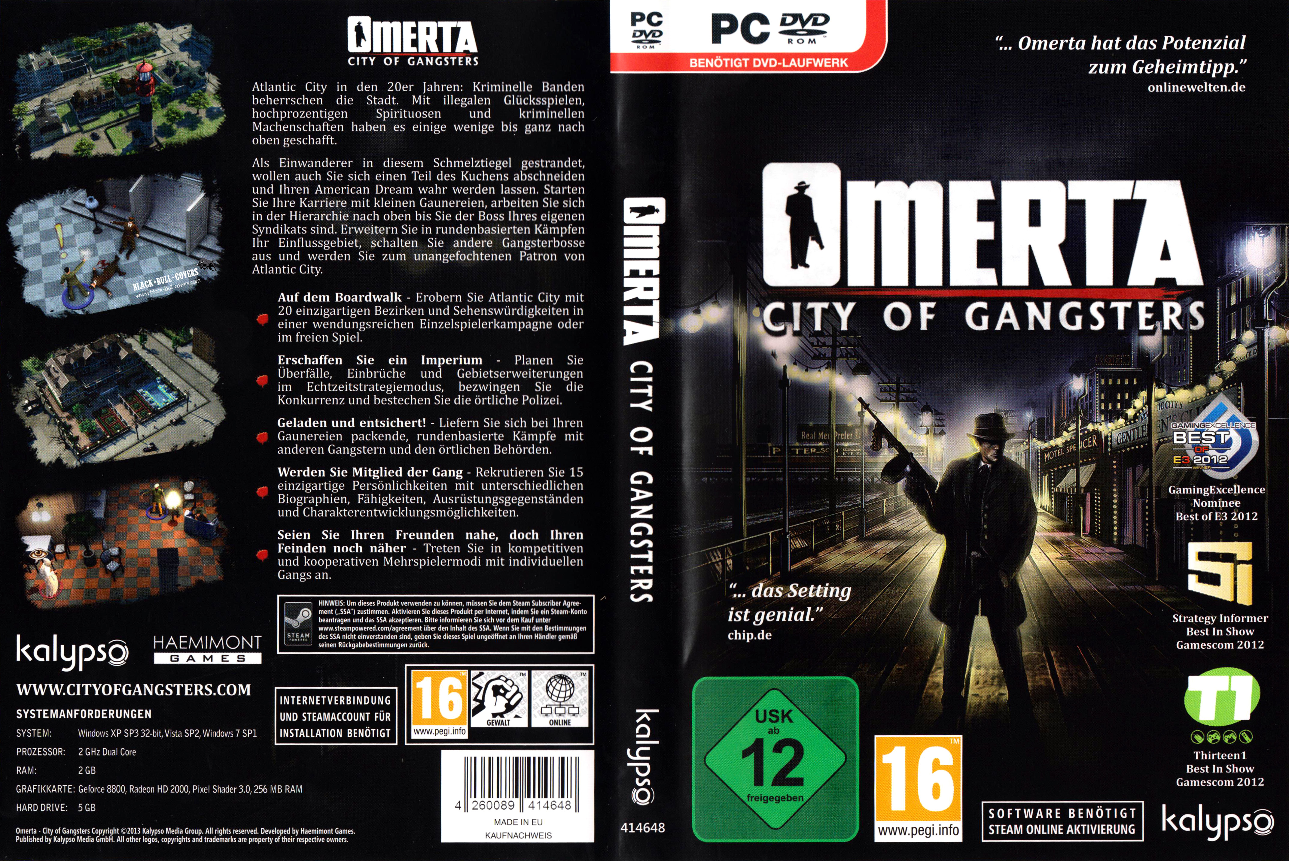Omerta City of Gangsters | PC Covers | Cover Century | Over