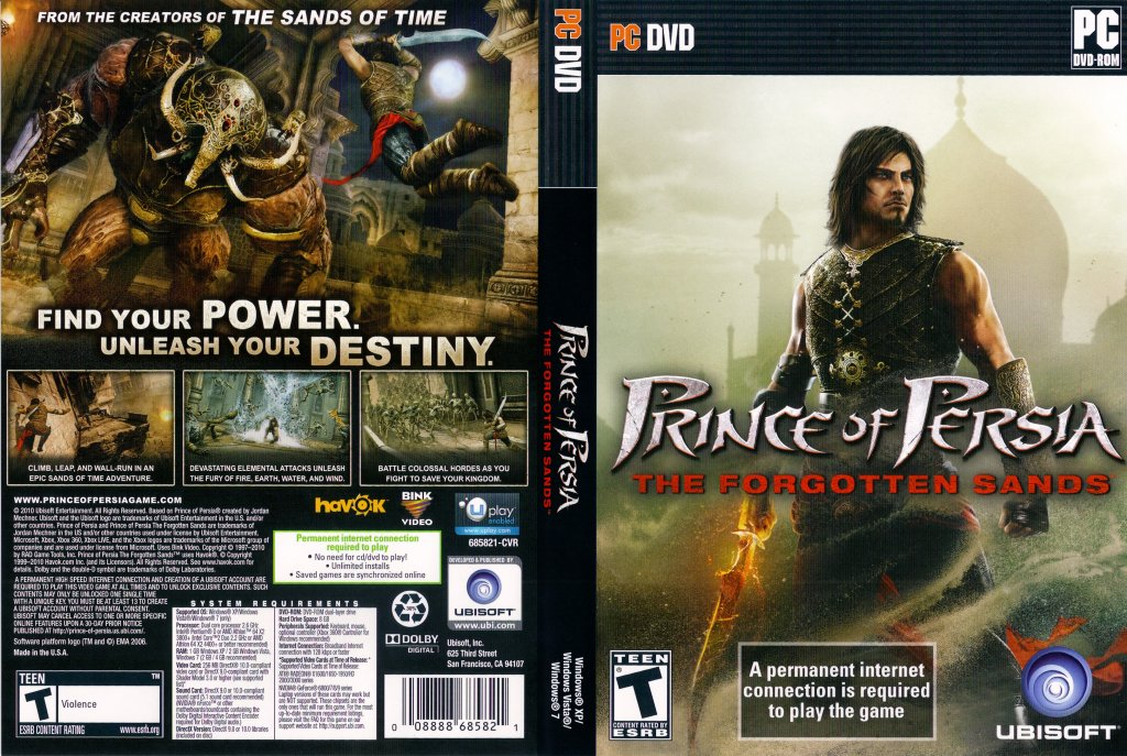 Prince Of Persia The Forgotten Sands Dvd Ntsc F Pc Covers Cover Century Over 500 000 Album Art Covers For Free