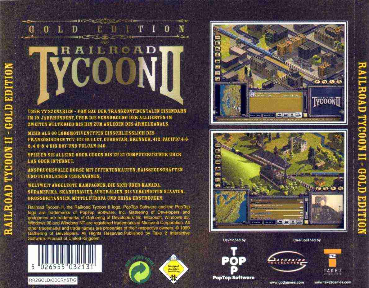 railroad tycoon 2 gold edition b | PC Covers | Cover Century