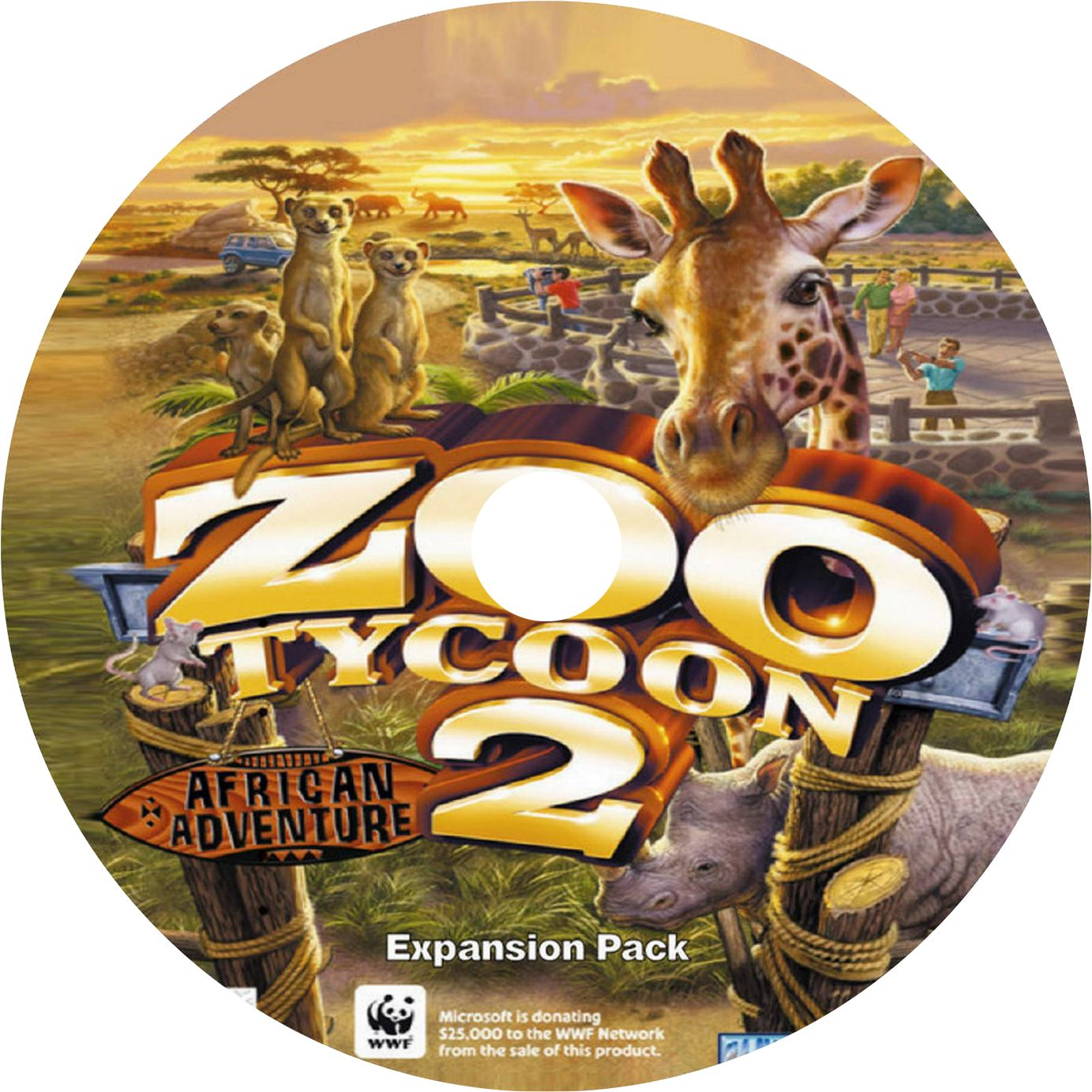 zoo tycoon 2 african adventure cd1 | PC Covers | Cover