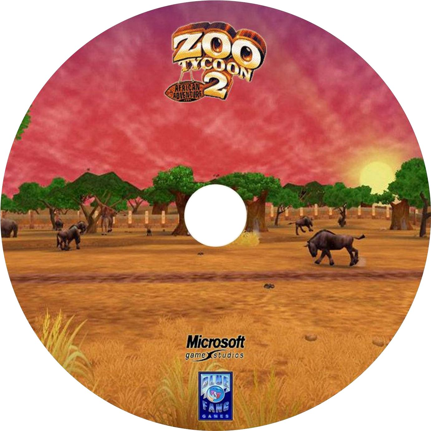 zoo tycoon 2 african adventure cd2 | PC Covers | Cover
