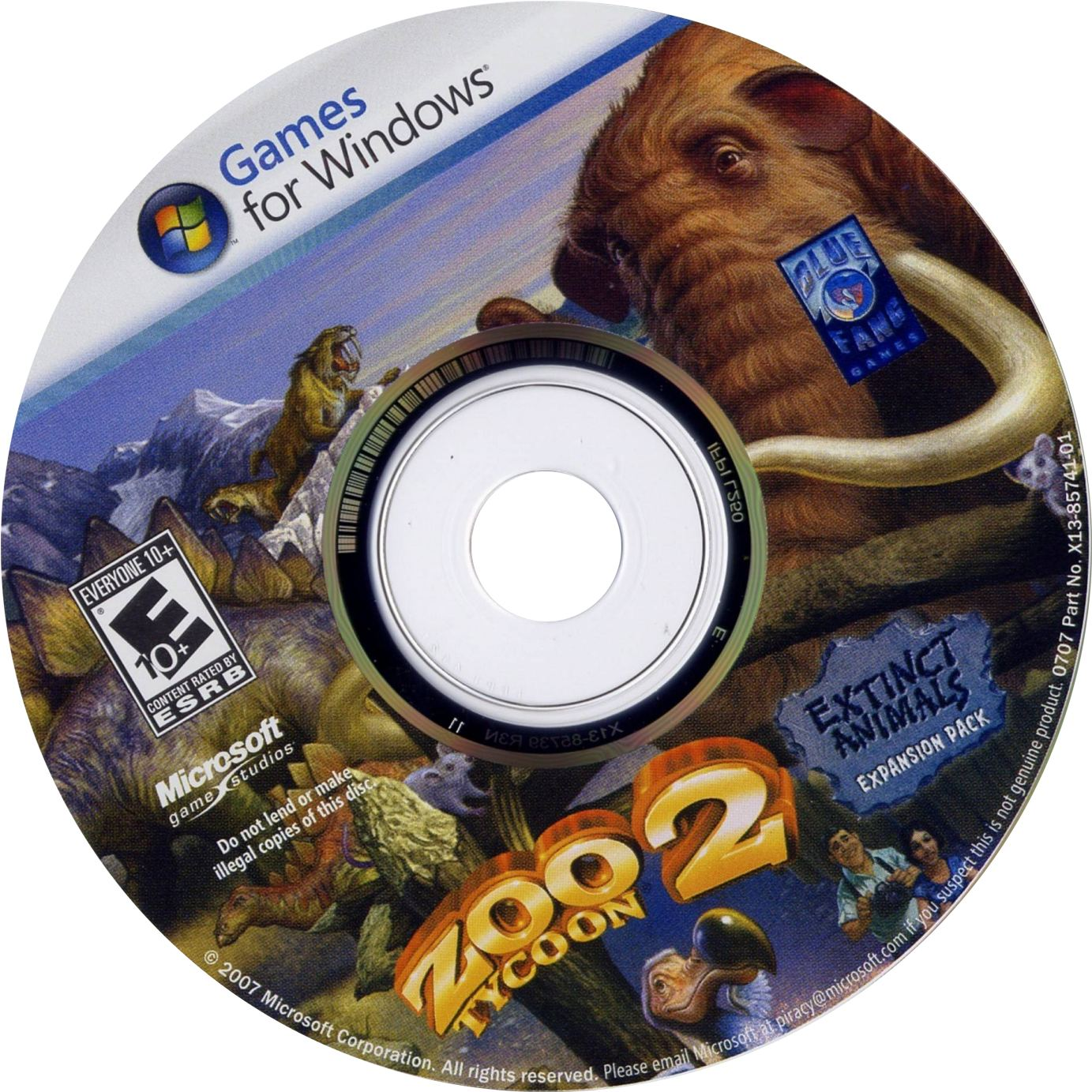 zoo tycoon 2 extinct animals cd | PC Covers | Cover Century