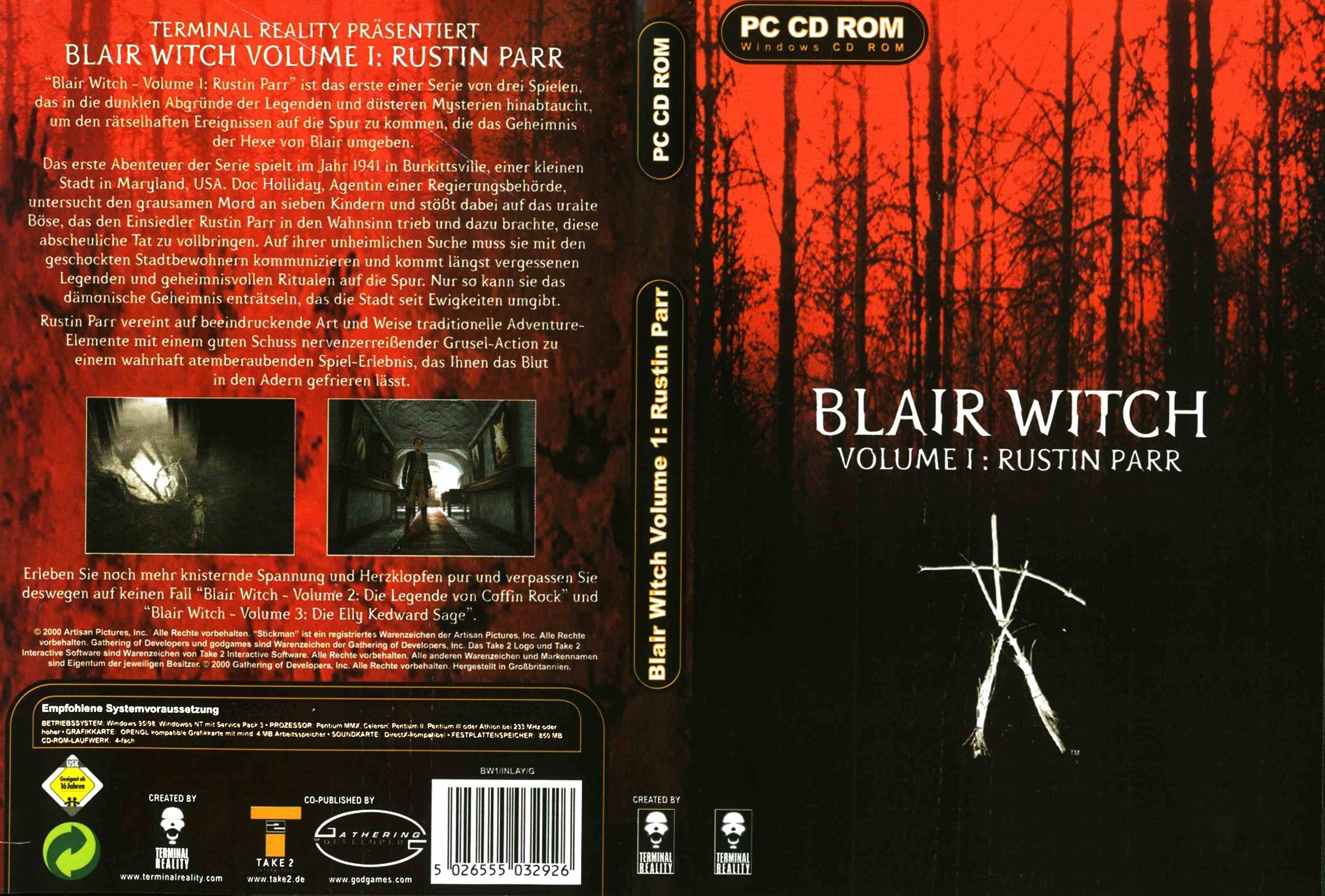 blair witch 1 rustin parr dvd | Playstation 2 Covers | Cover