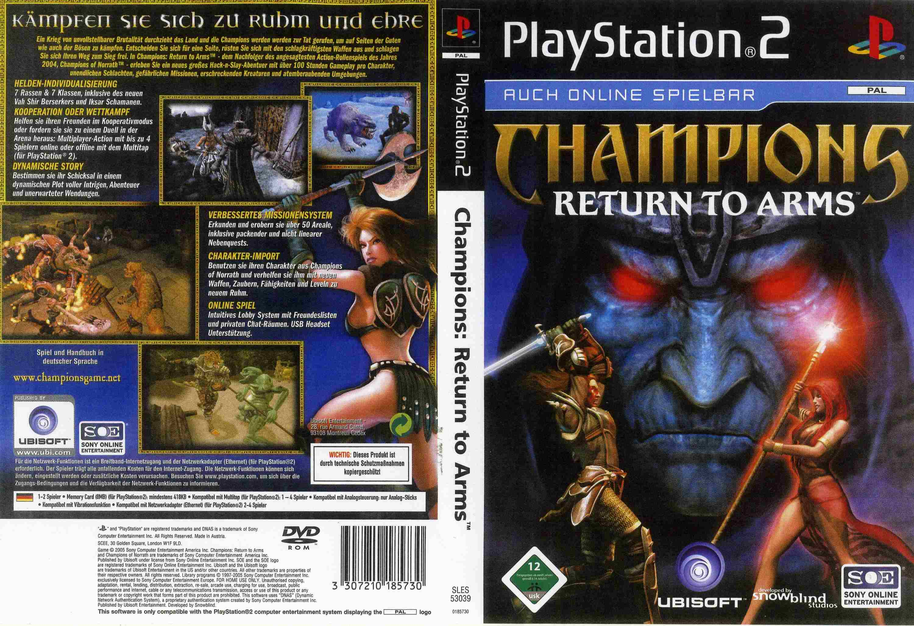 champions ps2 return to arms