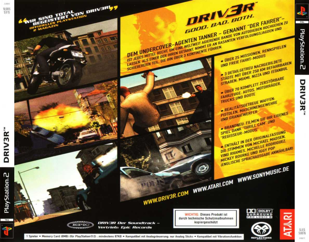 driver 3 b | Playstation 2 Covers | Cover Century | Over 500 000