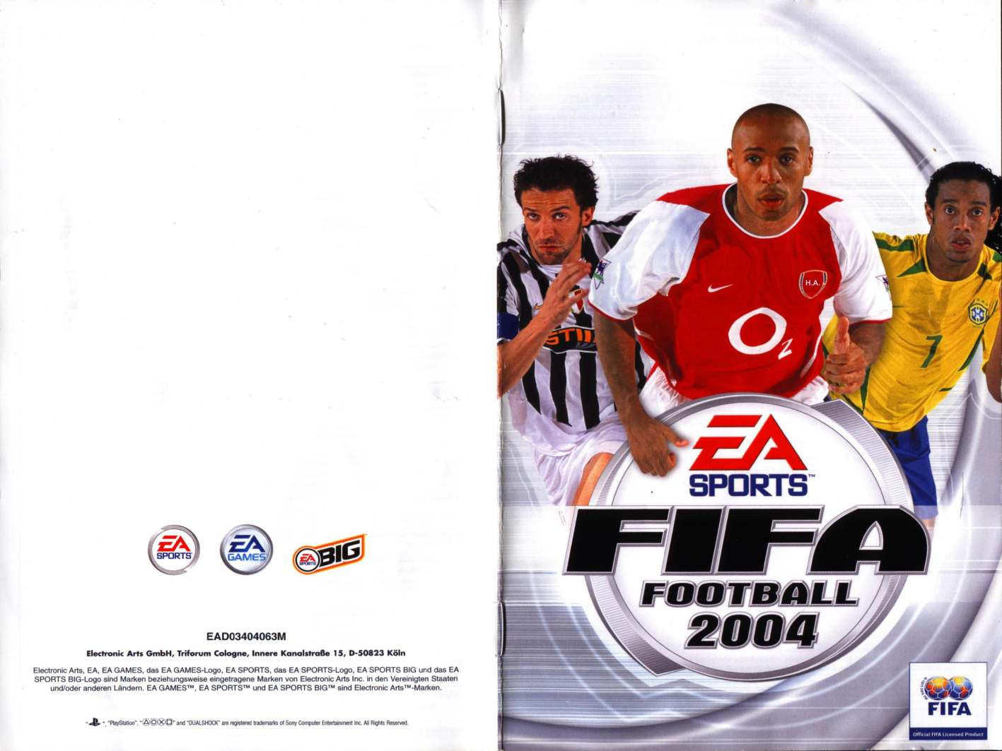 fifa football 2004 db | Playstation 2 Covers | Cover Century