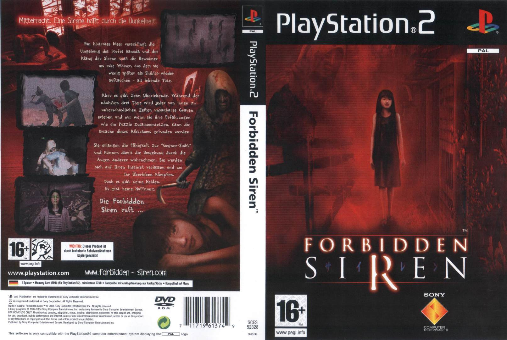 Forbidden Siren D Playstation 2 Covers Cover Century Over
