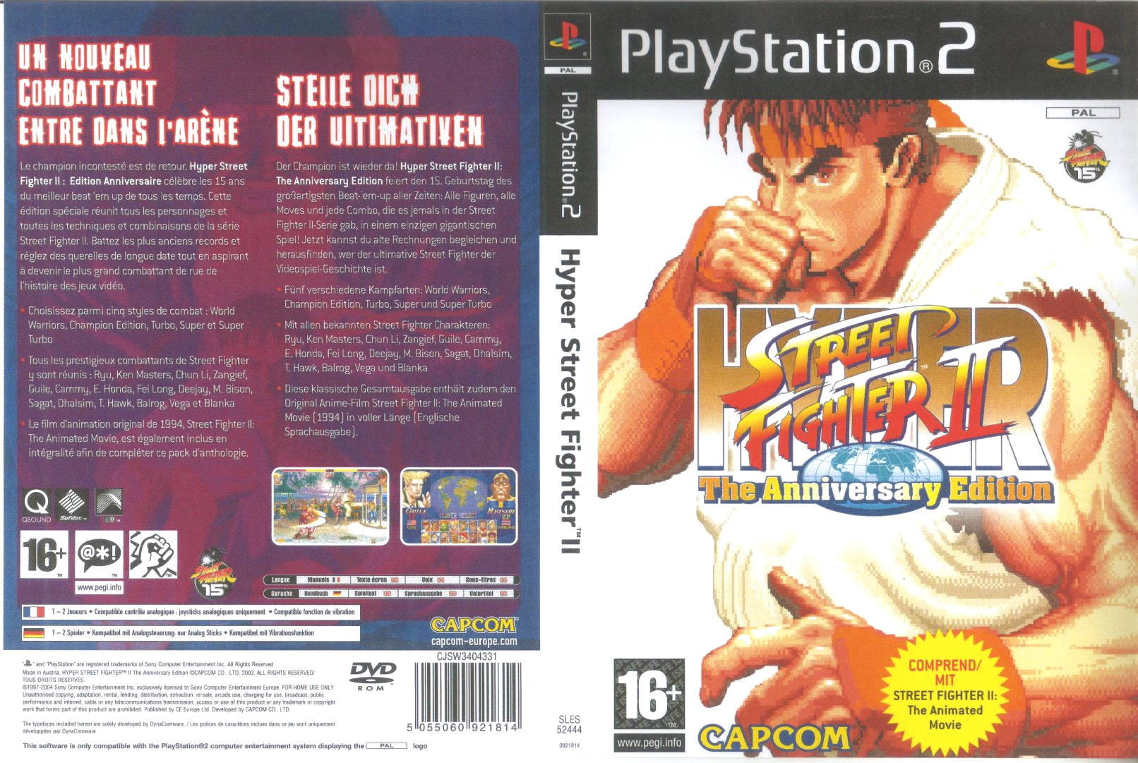 hyper street fighter 2 d | Playstation 2 Covers | Cover Century