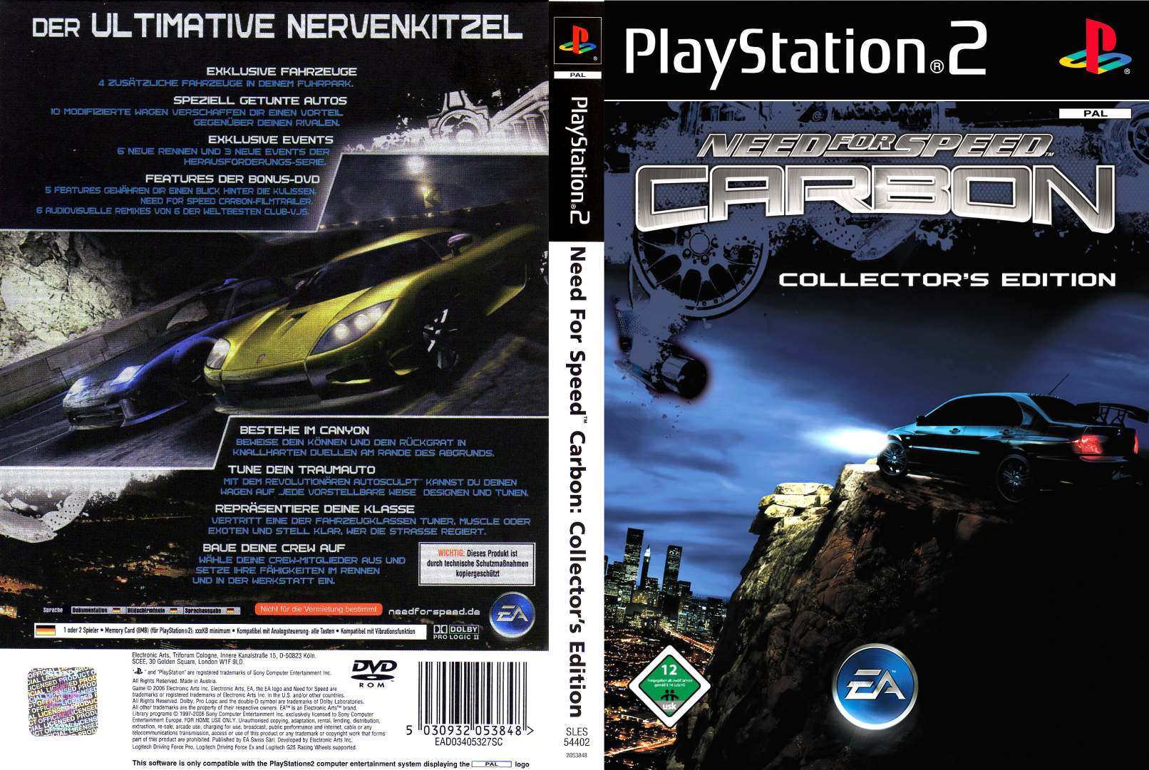 Need For Speed Carbon Collectors Edition D Playstation 2 Covers