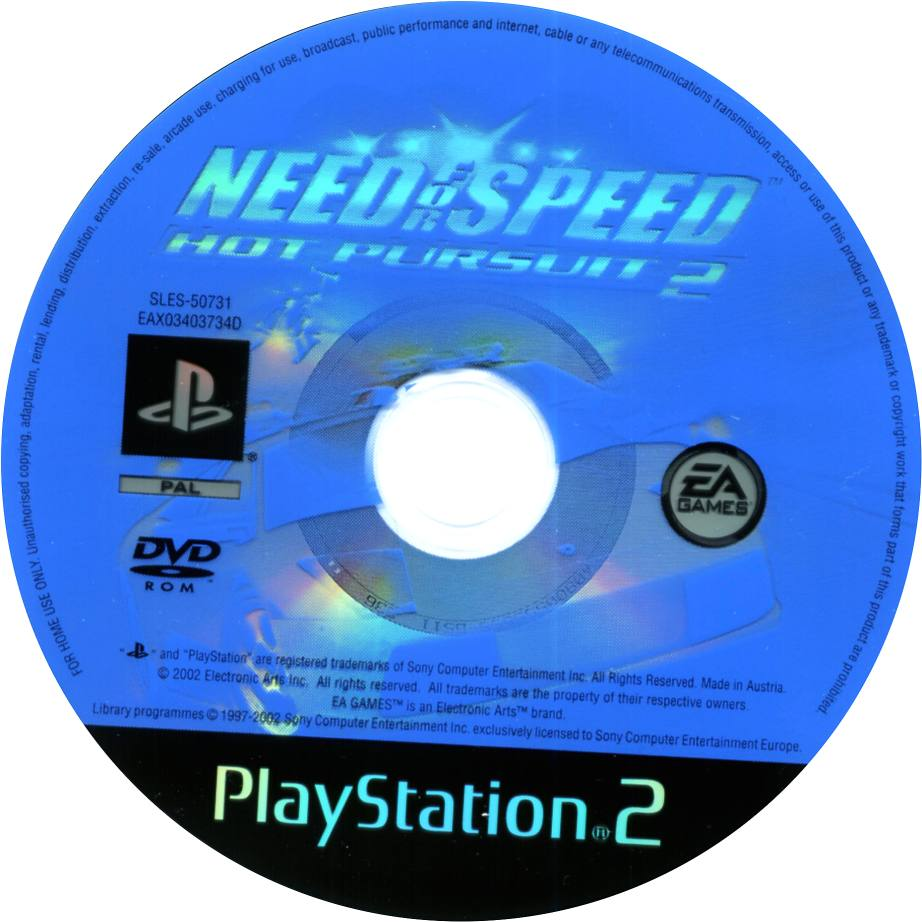 Need For Speed Hot Pursuit 2 Ps2 Cd Playstation 2 Covers Cover