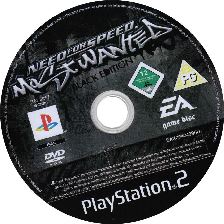 Need For Speed Most Wanted Black Edition Cd2 Playstation 2 Covers Cover Century Over 500 000 Album Art Covers For Free