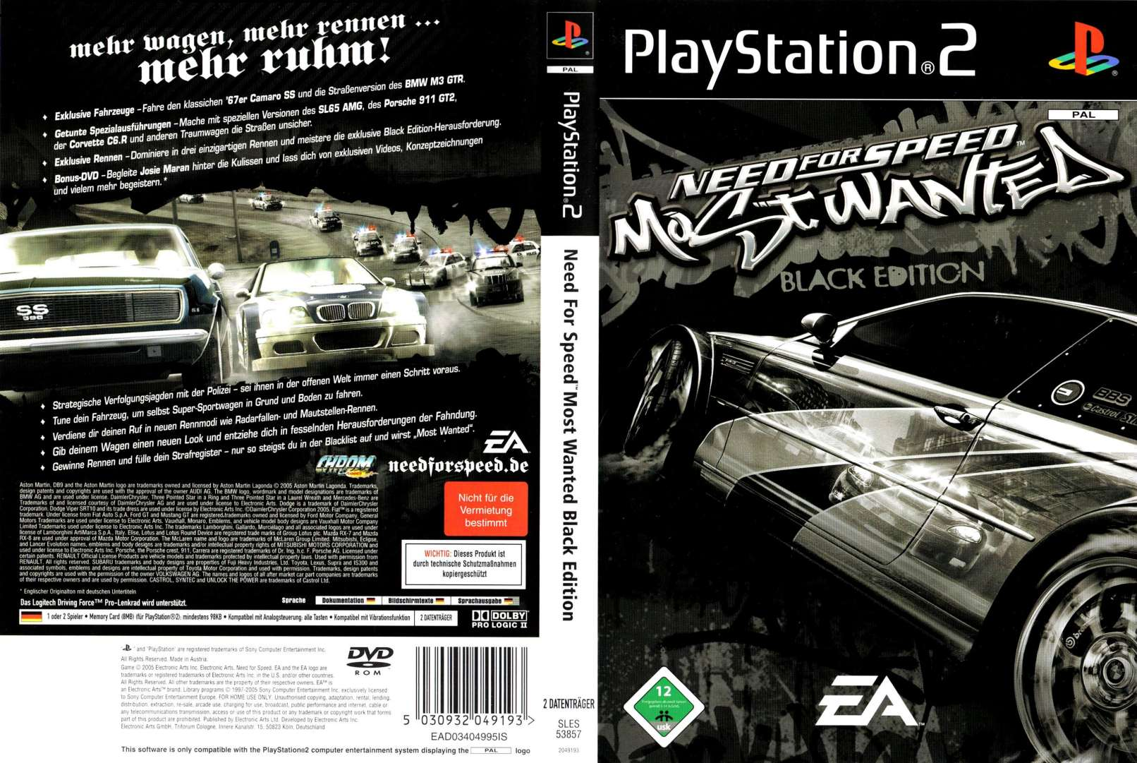 Need For Speed Most Wanted Black Edition D Playstation 2 Covers Cover Century Over 500 000 Album Art Covers For Free