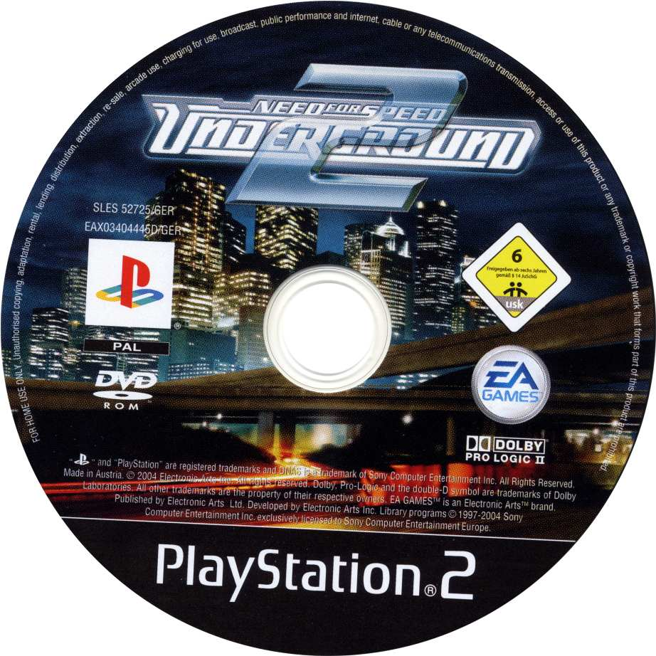 Need For Speed Underground 2 Cd Playstation 2 Covers Cover