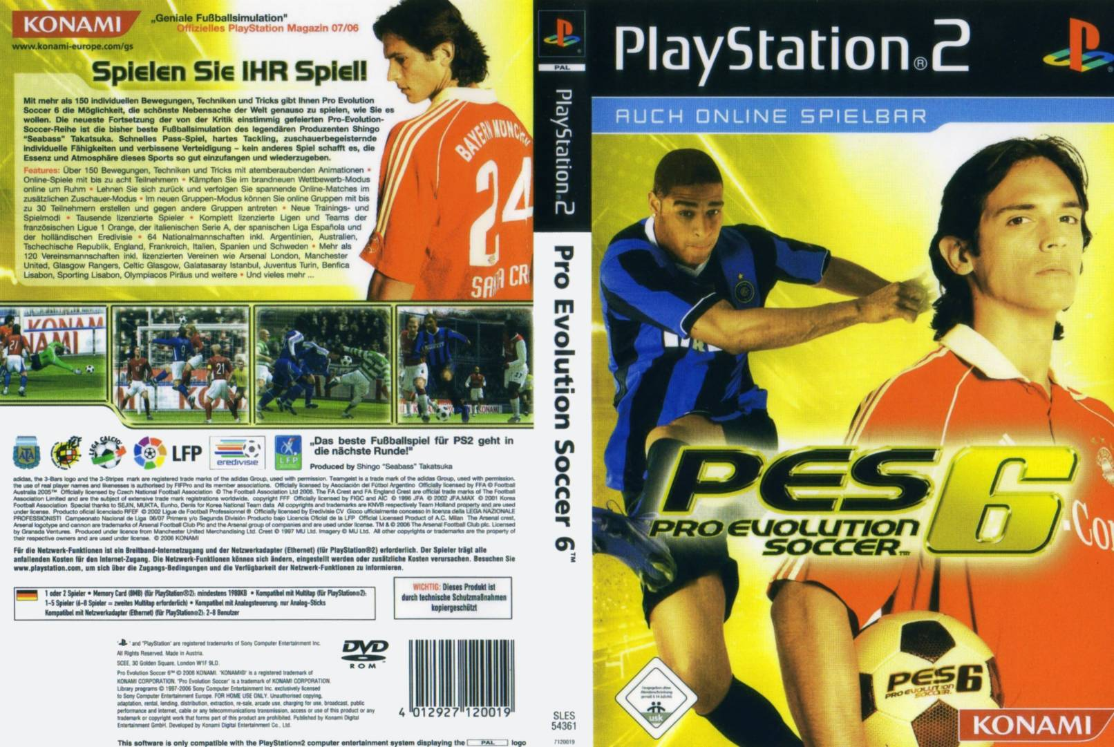 Pro Evolution Soccer 6 D Playstation 2 Covers Cover Century Over 500 000 Album Art Covers For Free