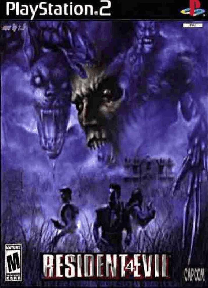 Resident Evil 4 Front Playstation 2 Covers Cover Century