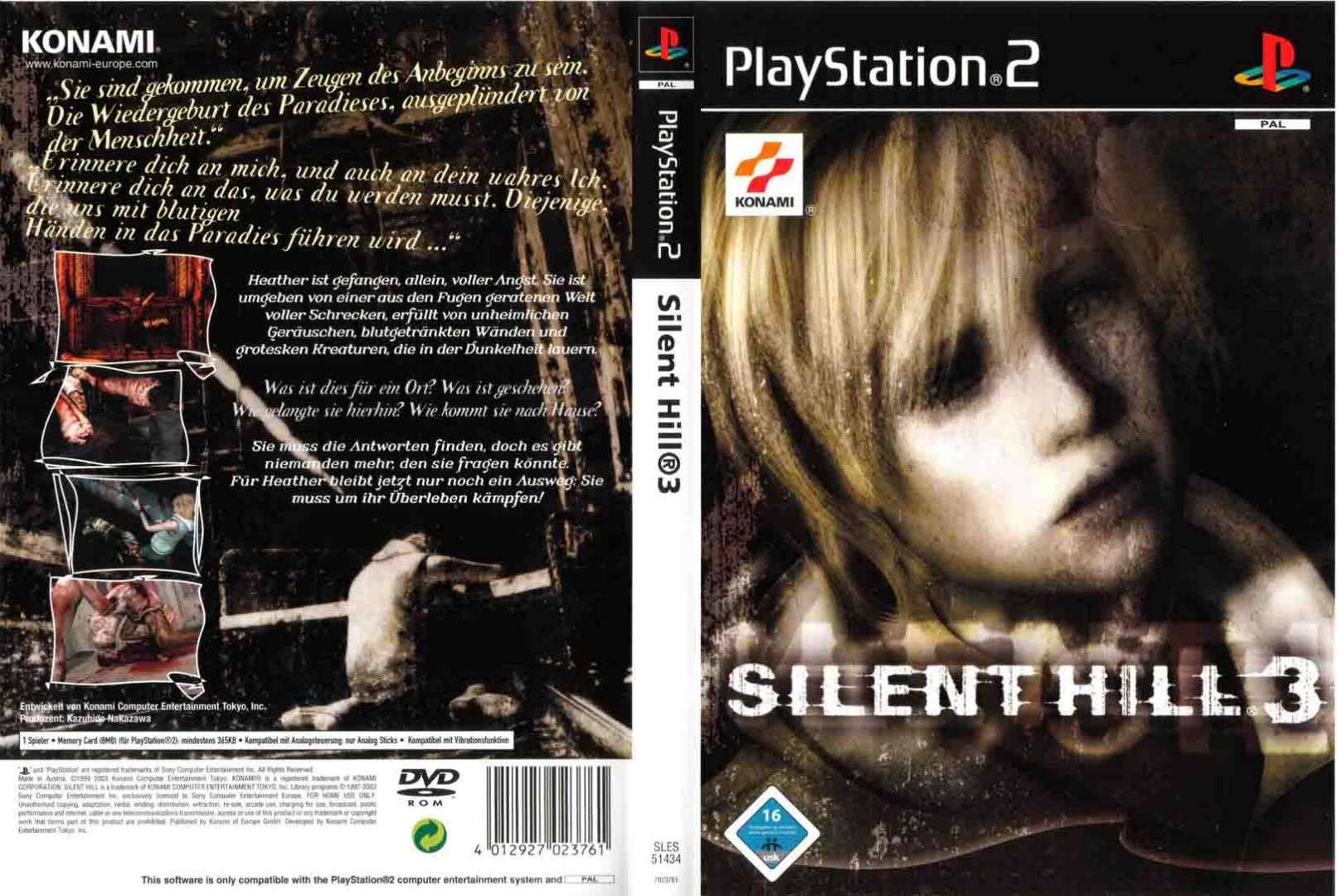 Silent Hill 3 Pal De Full Playstation 2 Covers Cover Century