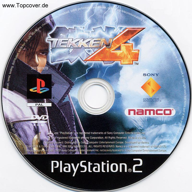 Tekken 4 Pal Ps2 Cd Playstation 2 Covers Cover Century Over