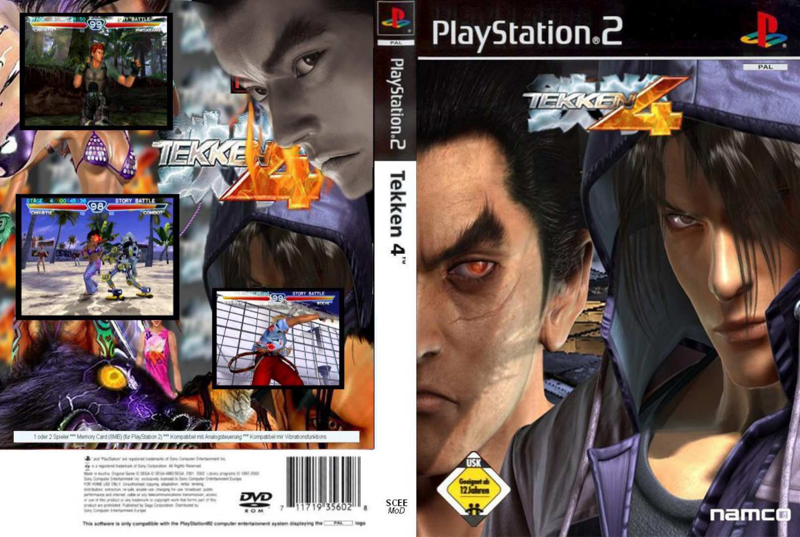 Tekken 4 Pal Ps2 Full Playstation 2 Covers Cover Century