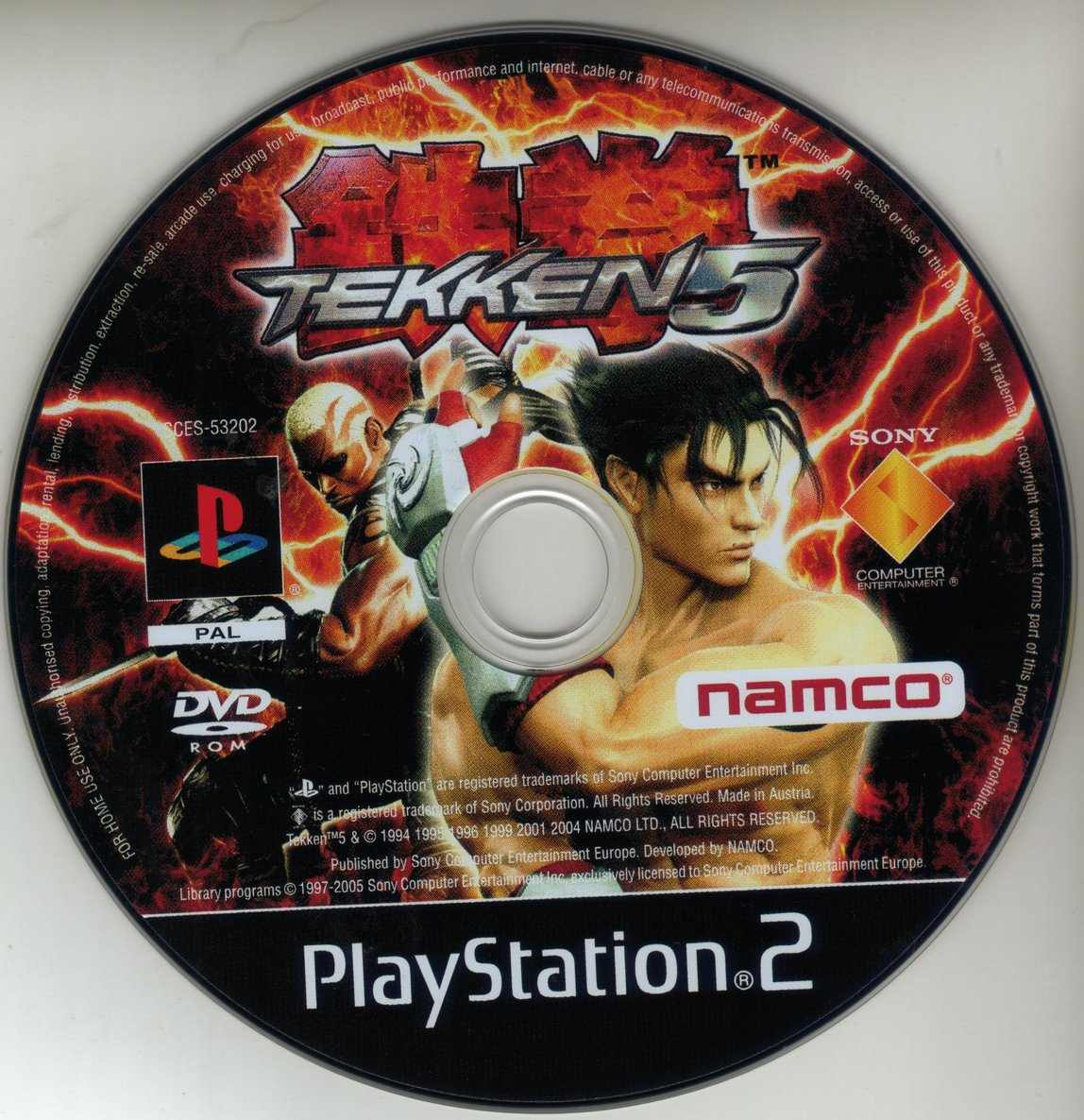 Tekken 5 Ps2 Cdd Playstation 2 Covers Cover Century Over