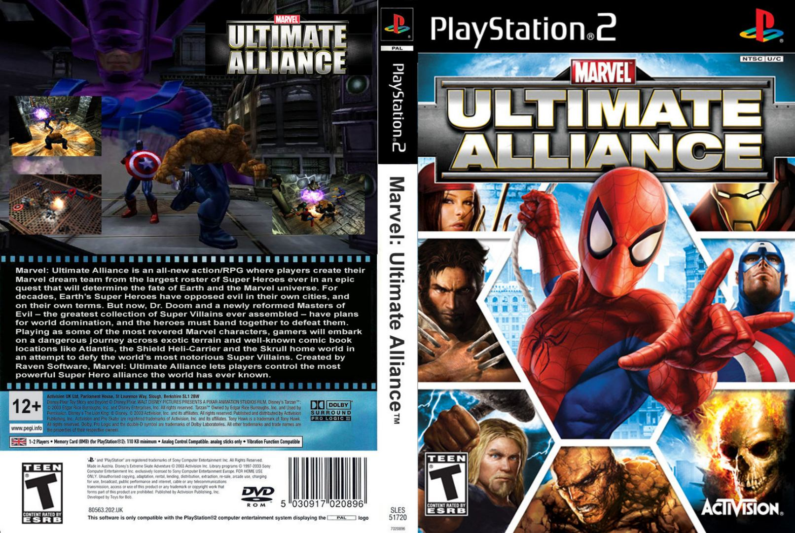 ultimate alliance d | Playstation 2 Covers | Cover Century