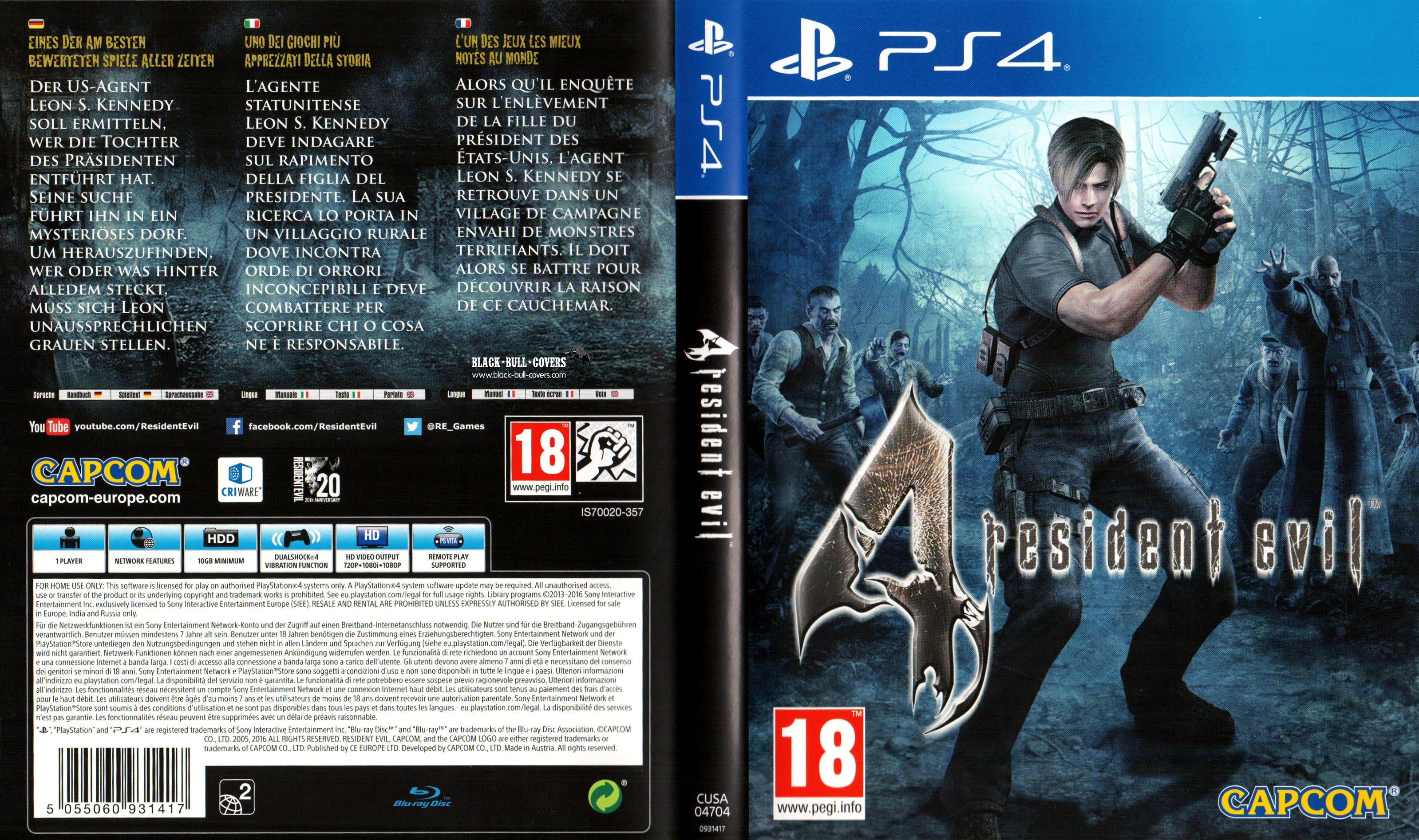 Resident Evil 4 Playstation 4 Covers Cover Century Over