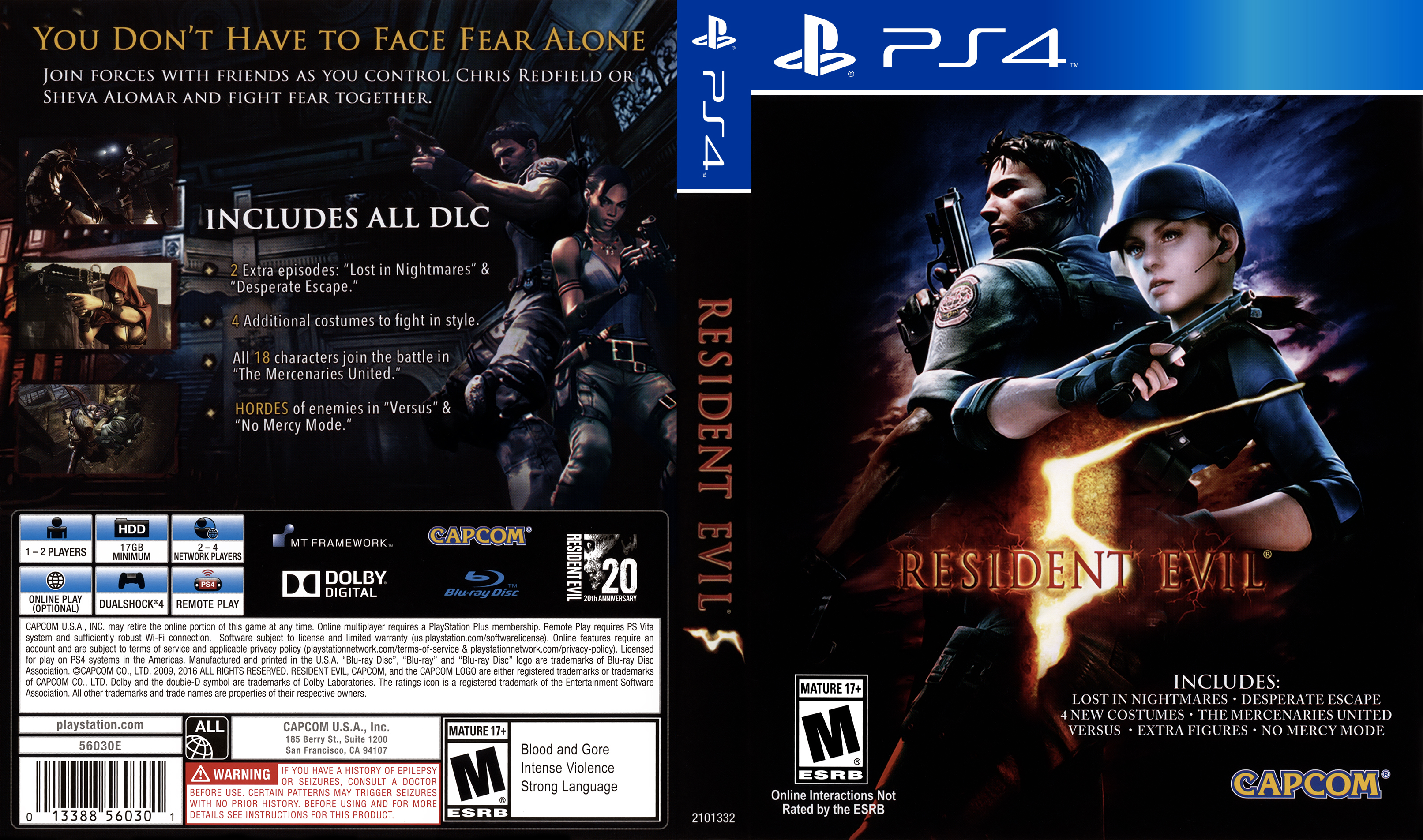 Resident Evil 5 Playstation 4 Covers Cover Century Over