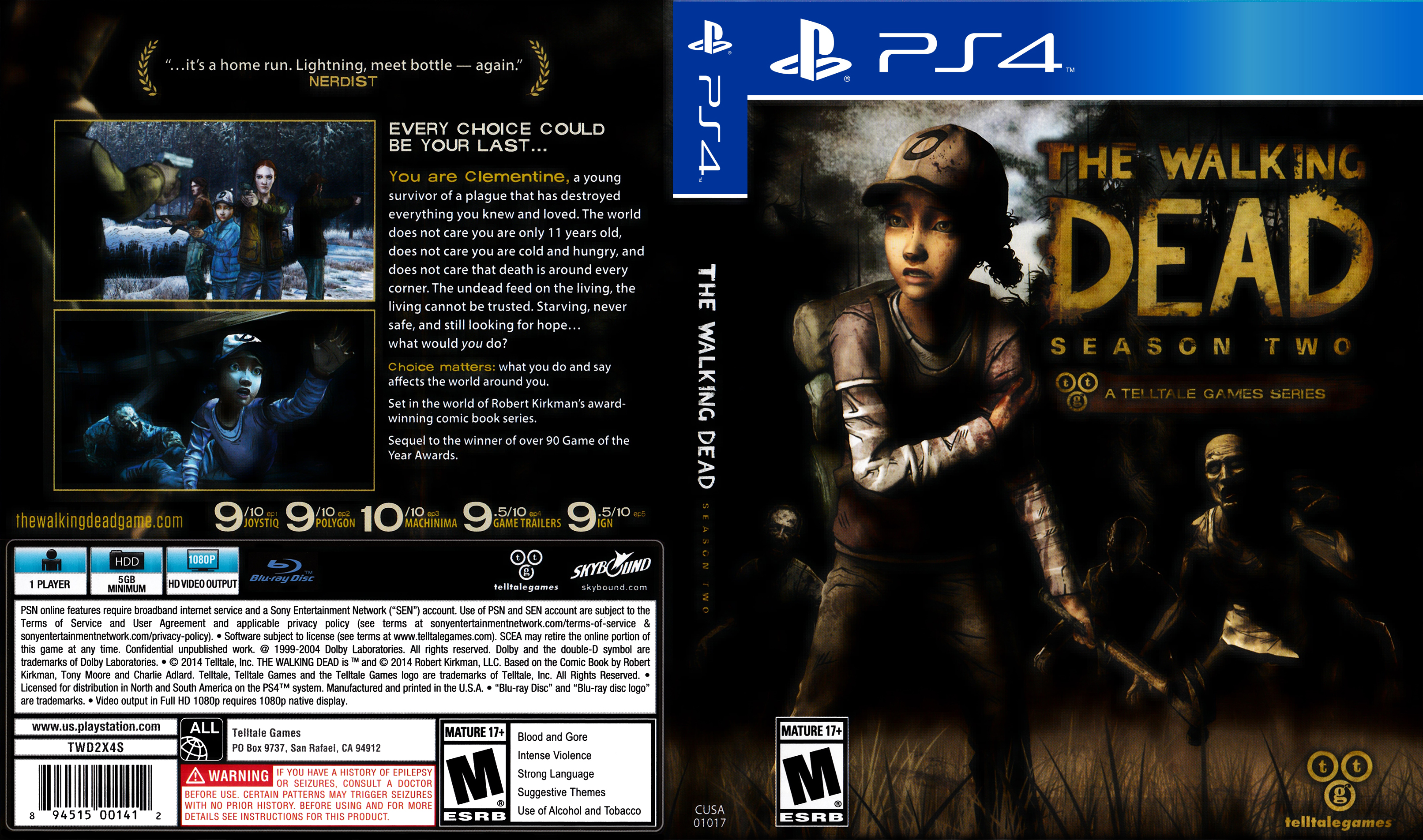 the walking dead season 2 playstation 4 covers cover. Black Bedroom Furniture Sets. Home Design Ideas